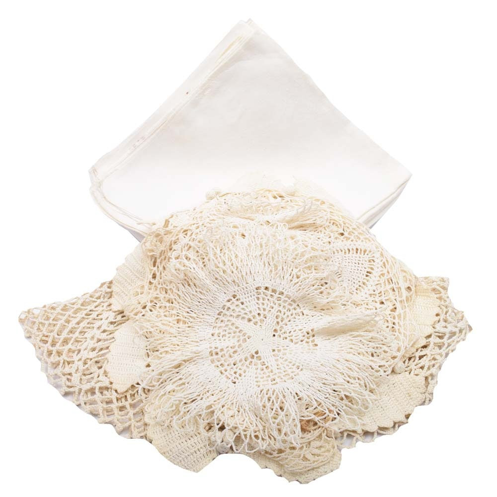 Vintage Doilies and Table Linens