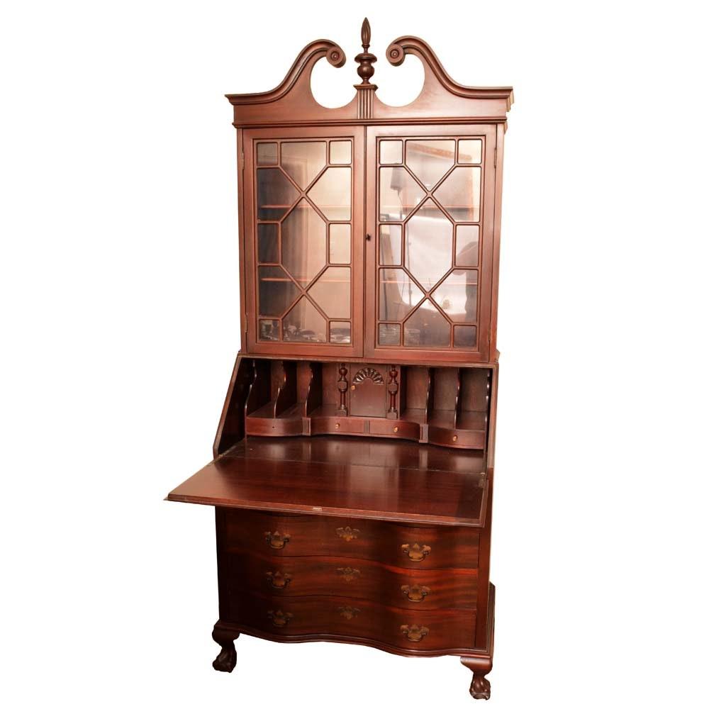 Vintage Mahogany Secretary Bookcase