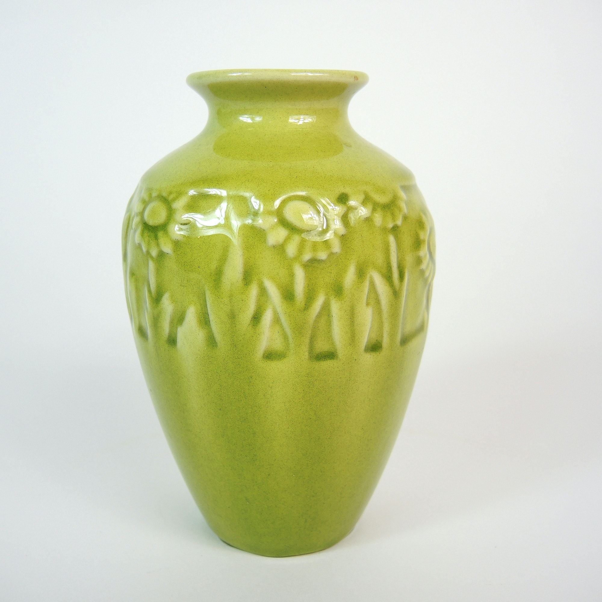 Small Green Rookwood Pottery Vase, 1952