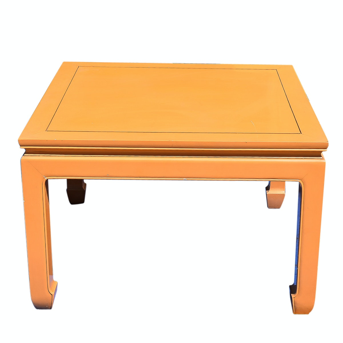 Vintage Chinese Style Orange Lacquered Table ...