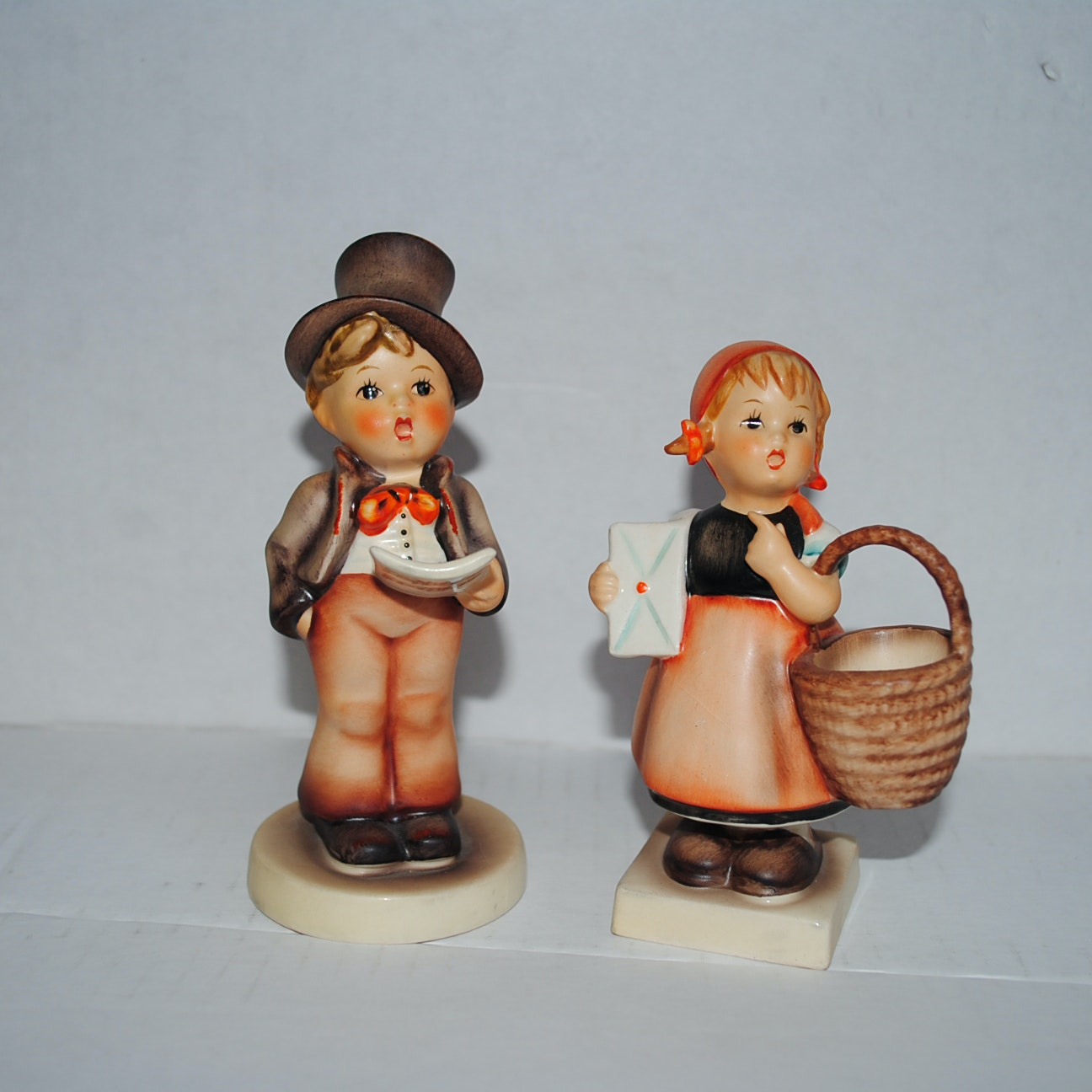 "Hummel ""Street Singer"" and ""Meditation"" Porcelain Figurines"