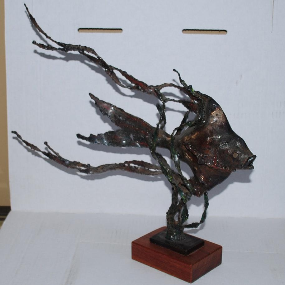 Mike Bucha Bronze Fish Sculpture
