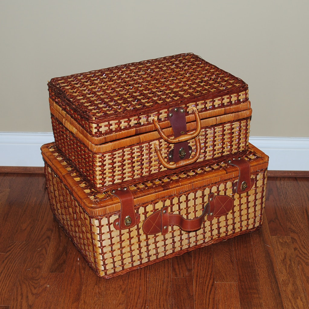 Vintage Wicker Picnic Baskets