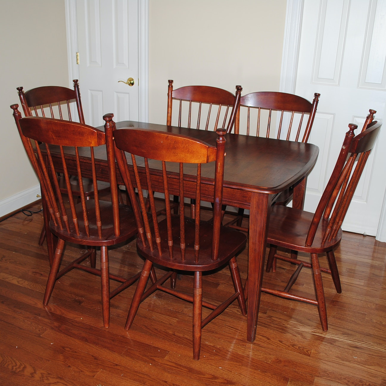 Dining Table with Windsor Style Chairs