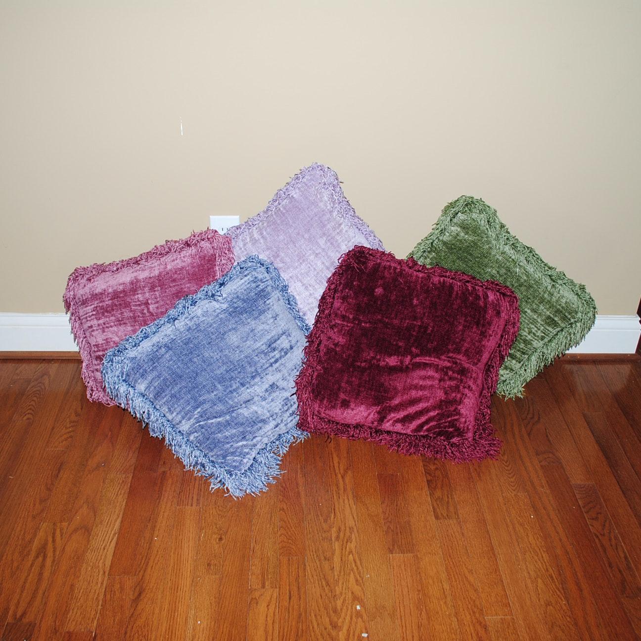 Jewel Tone Chenille Accent Pillows
