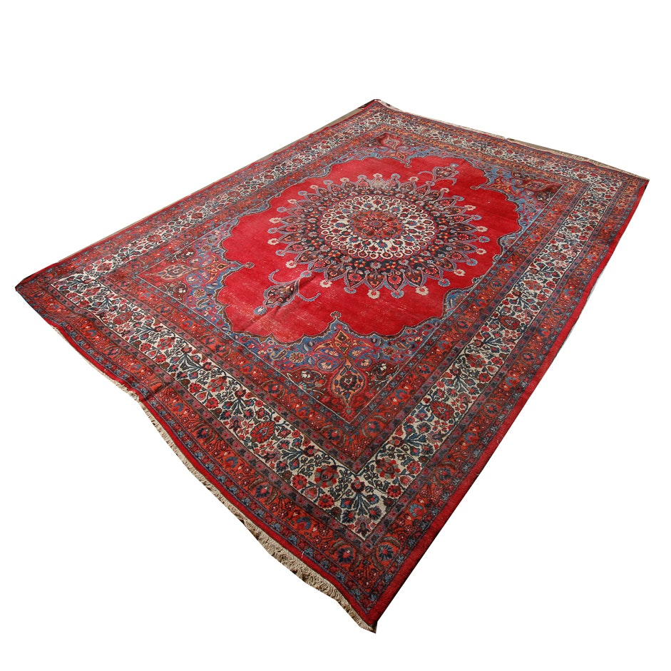 Hand-Knotted Persian Qum Area Rug