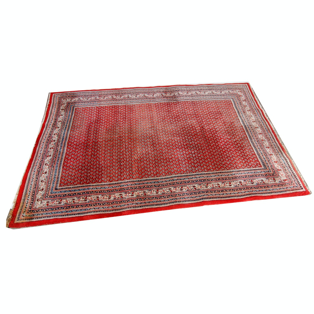 Hand-Knotted Persian Serabend Area Rug
