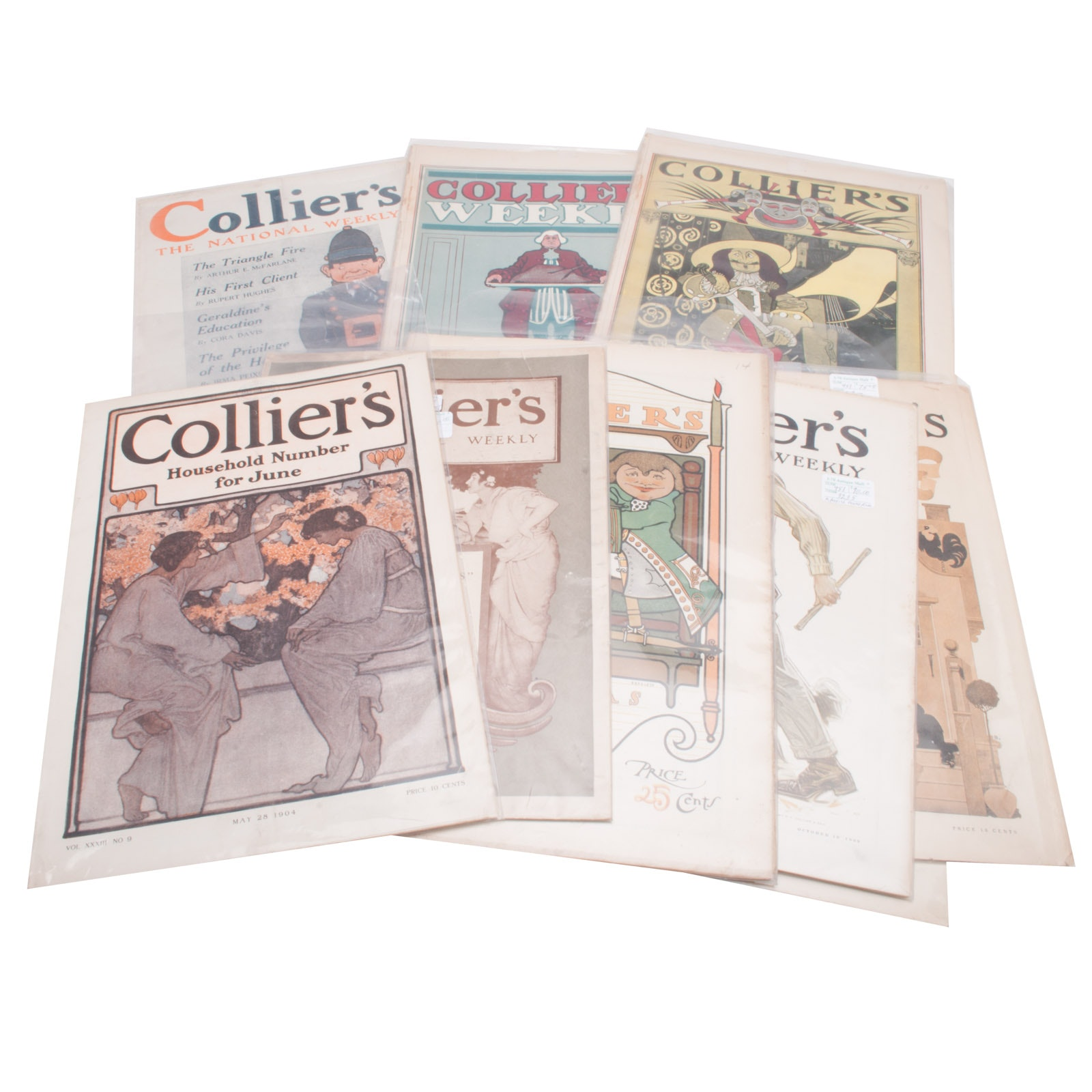 Collection of Antique Collier's Magazines