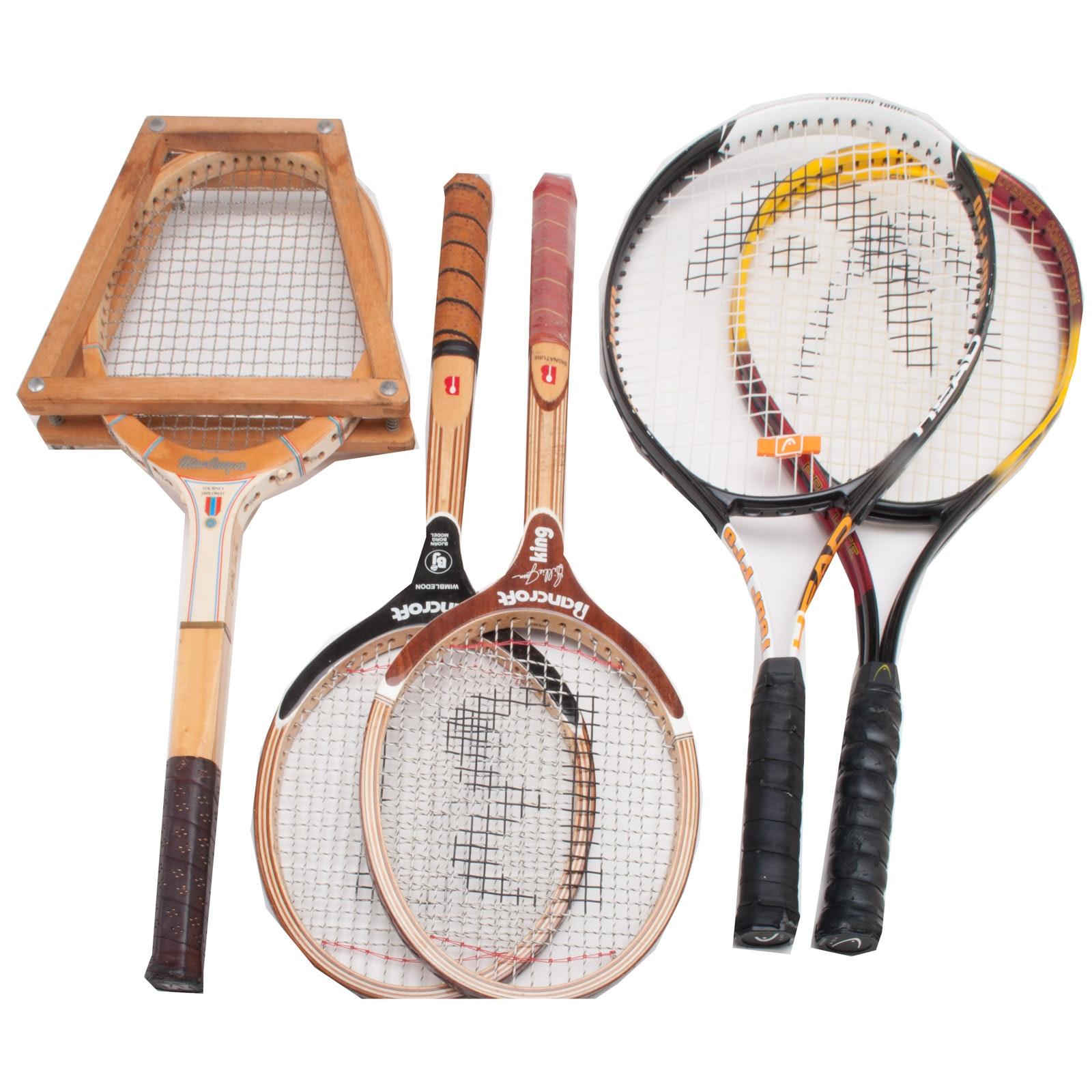 Five Tennis Racquets