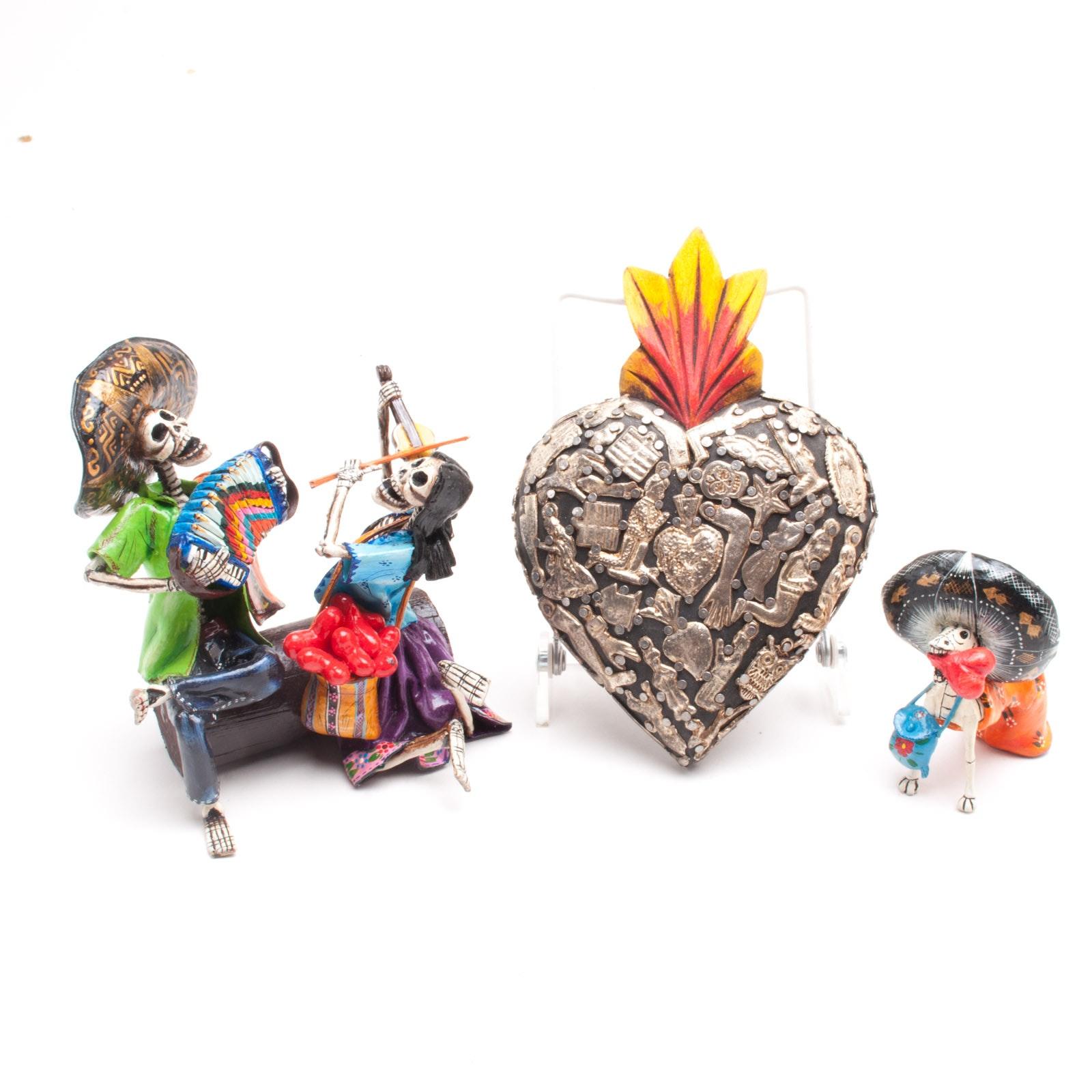 Peruvian Dia De Los Muertos Carvings