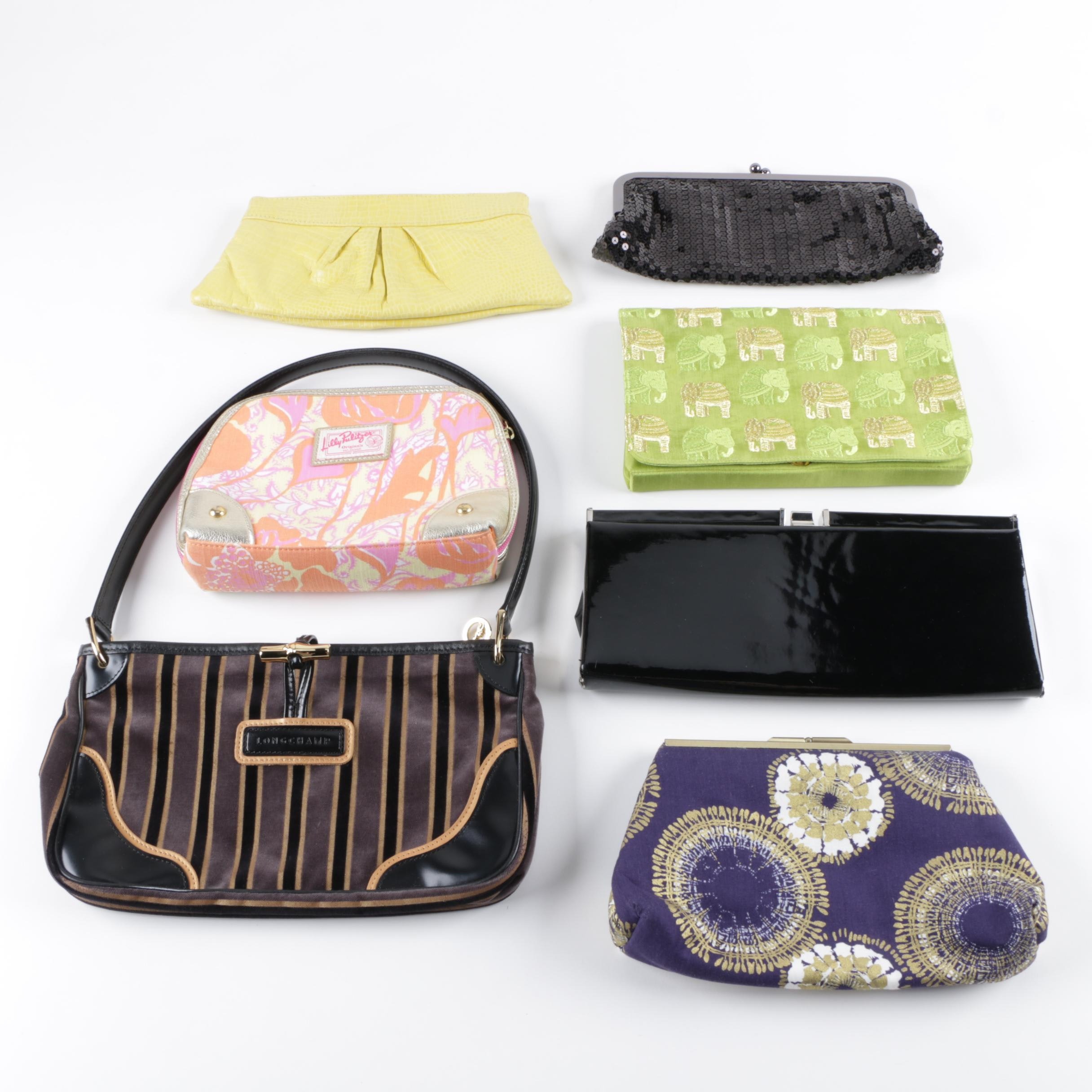Longchamp, Lauren Merkin, Lilly Pulitzer and Other Clutches