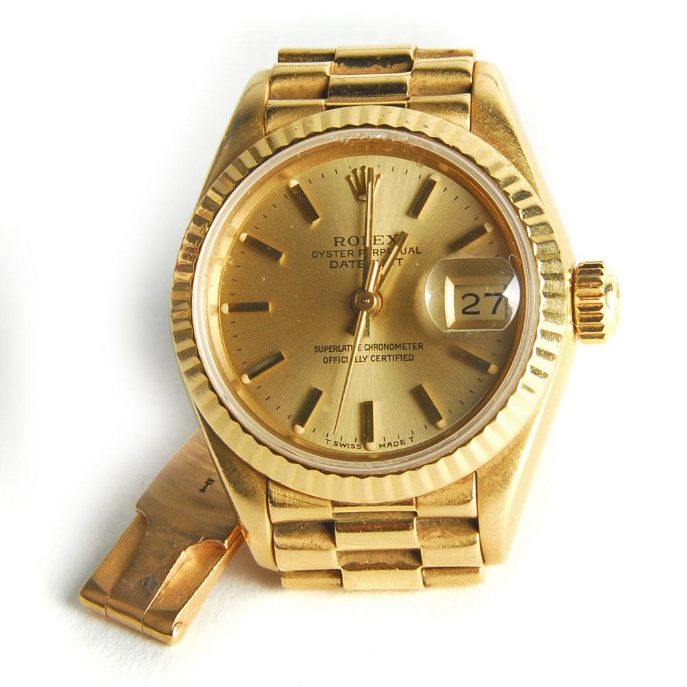 Rolex President 18K Yellow Gold Datejust Wristwatch