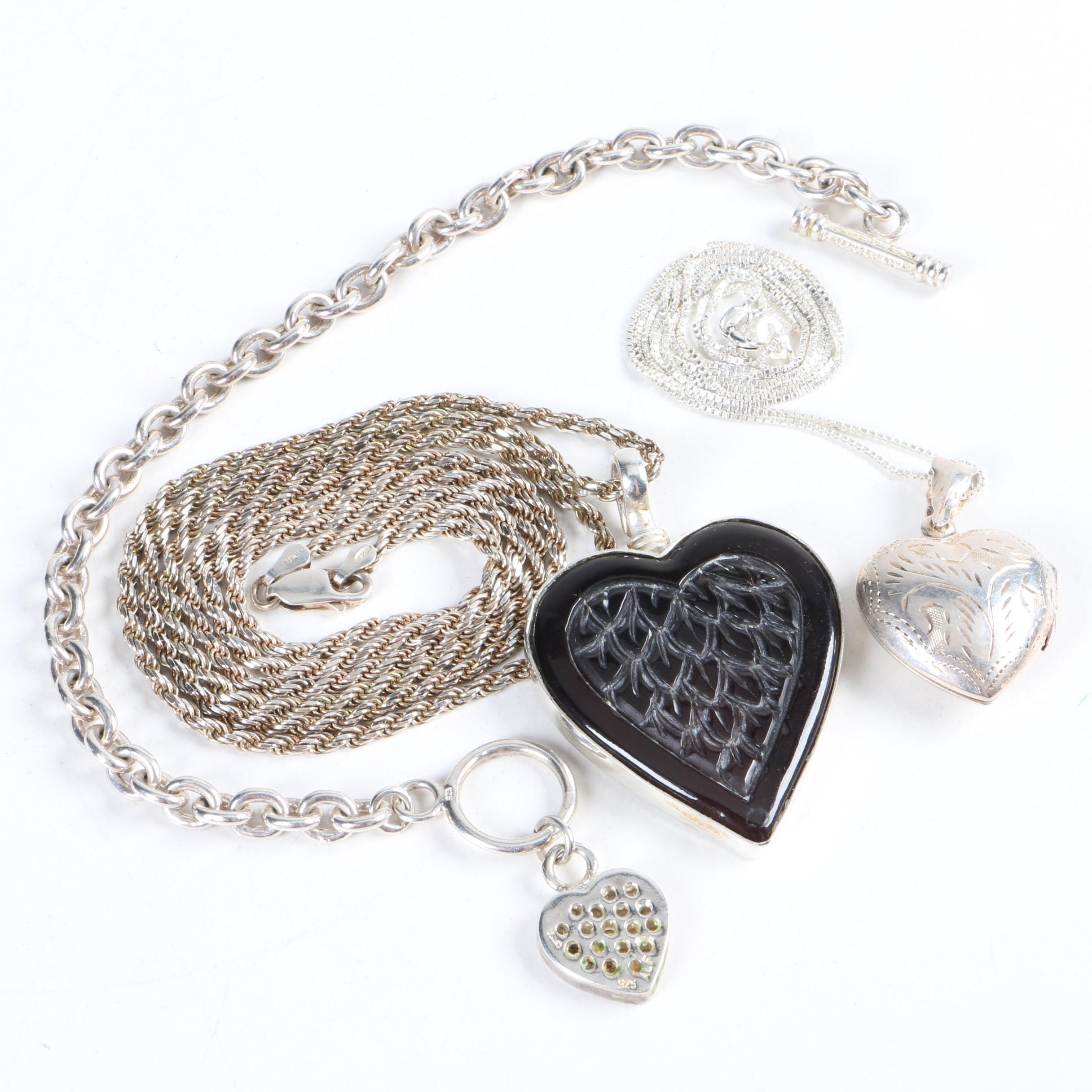 Necklaces and Bracelet Including Cubic Zirconia and Sterling Silver