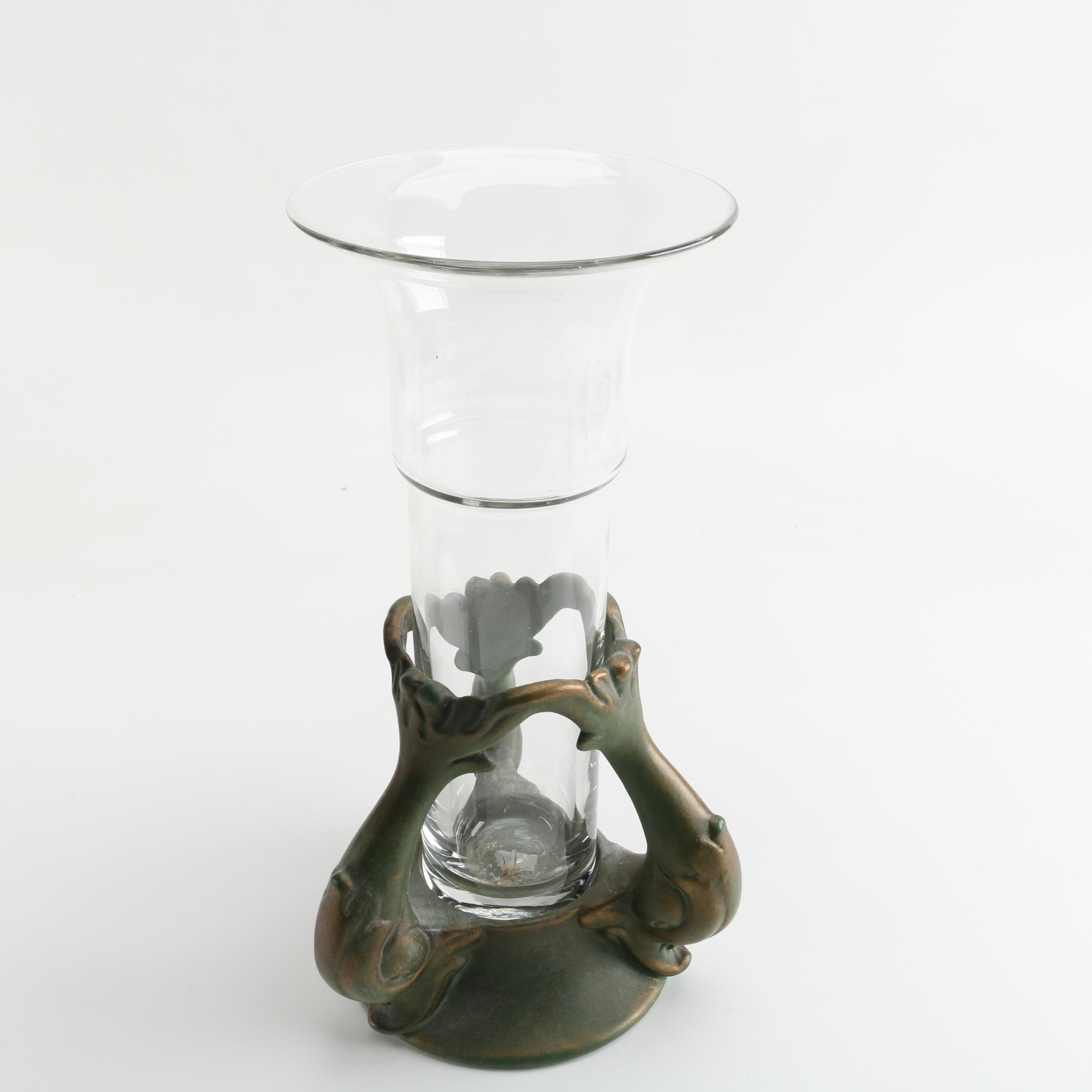 Glass Vase and Stand
