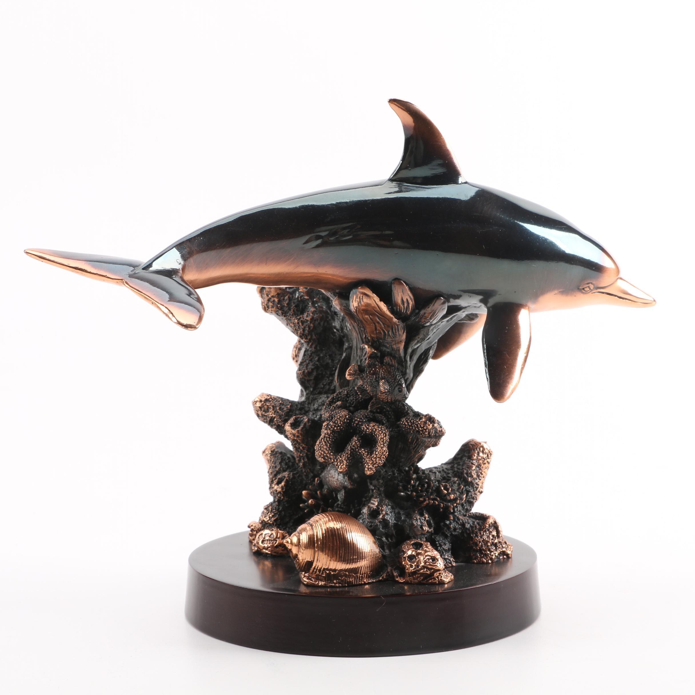 Metal Dolphin Sculpture