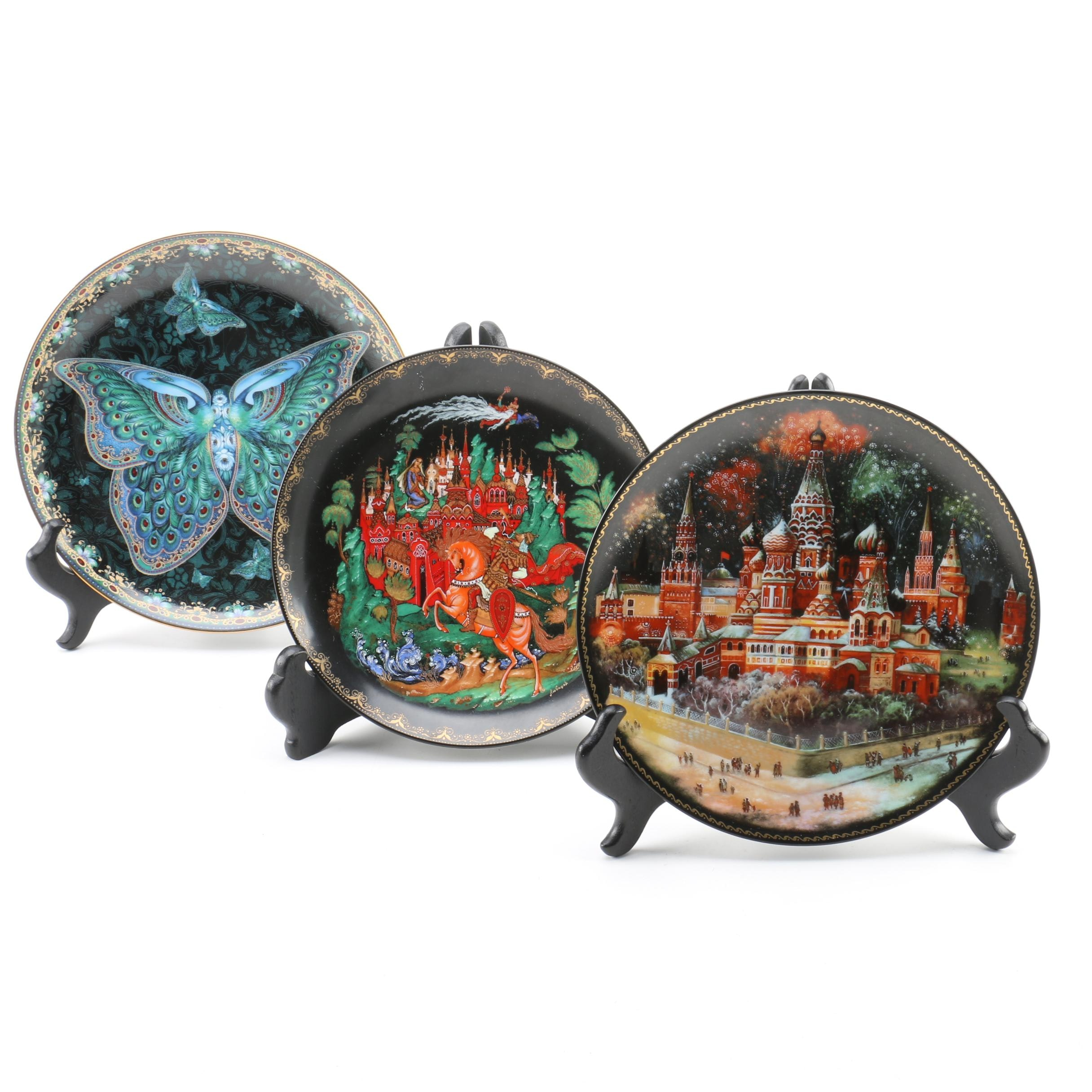 "Bradford Exchange ""Enchanted Wings"" Collector Plates"