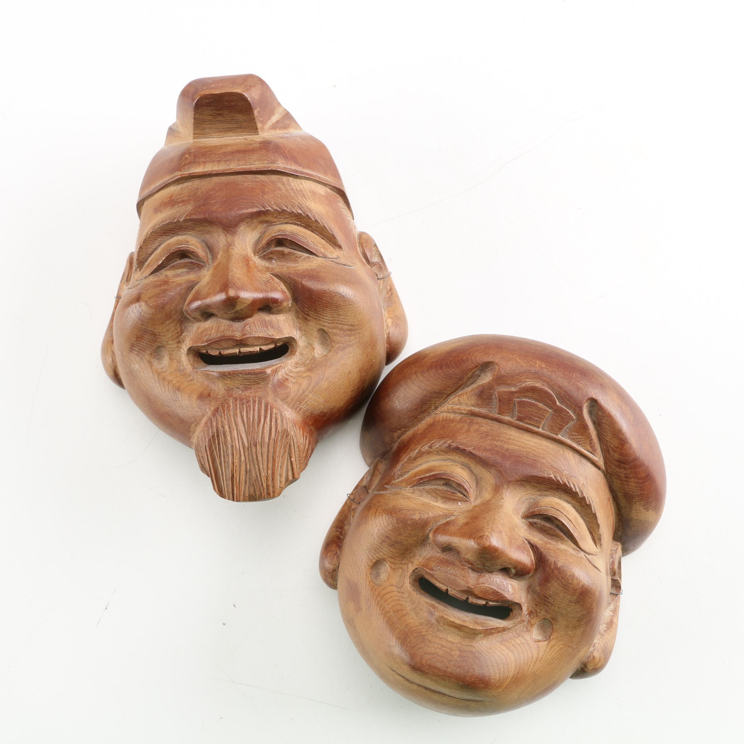 Japanese Carved Masks