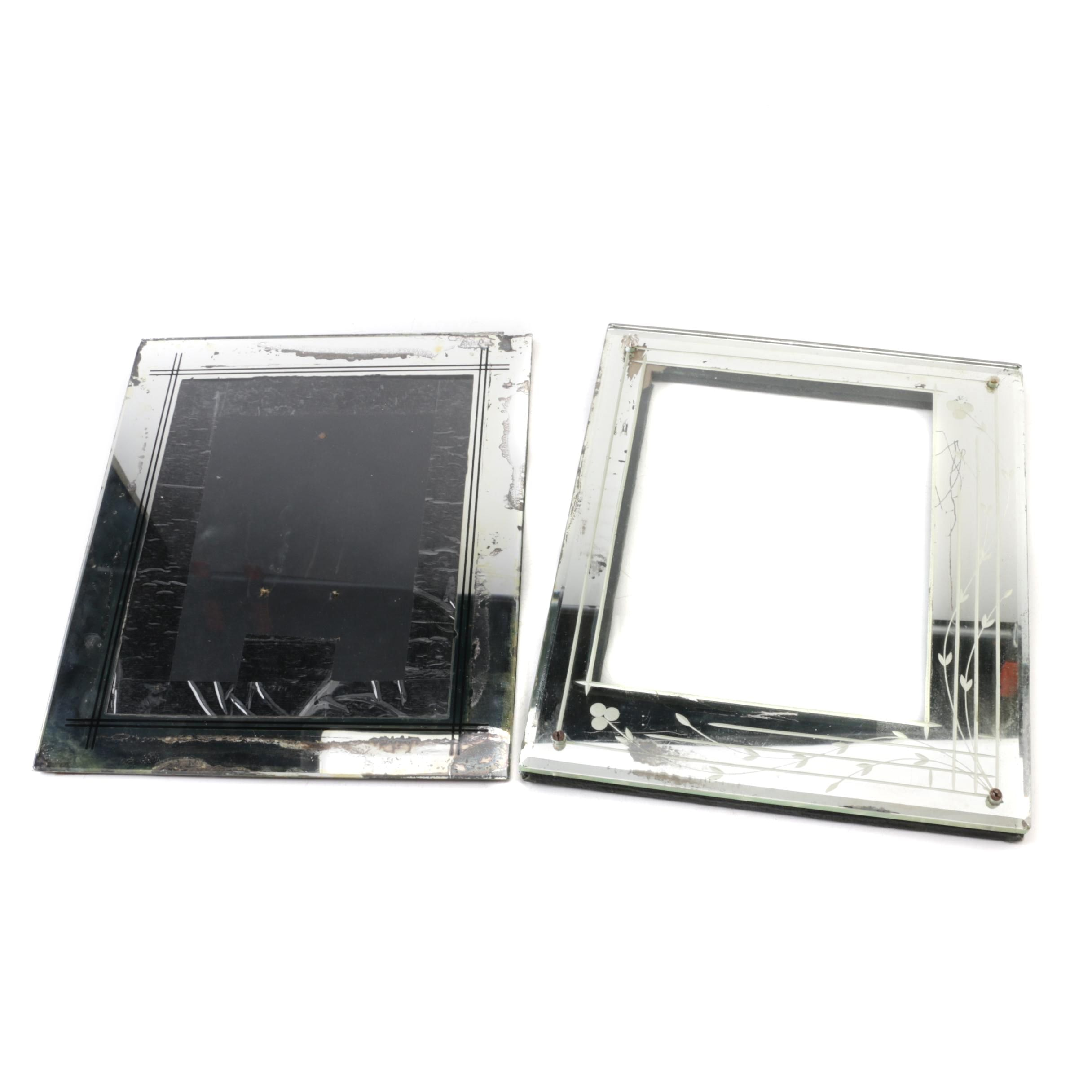 Vintage Mirrored Picture Frames