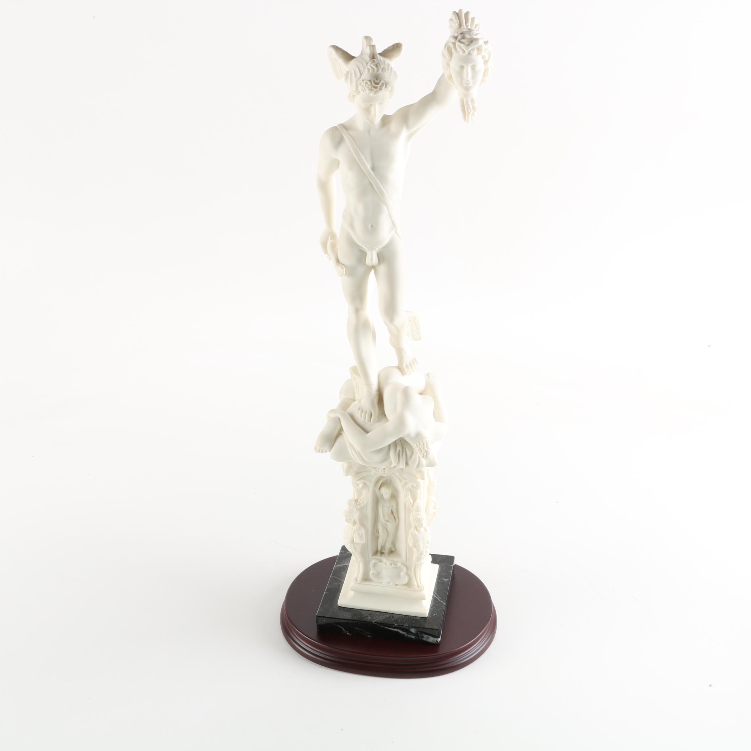 Santini David and Goliath Italian Porcelain Sculpture