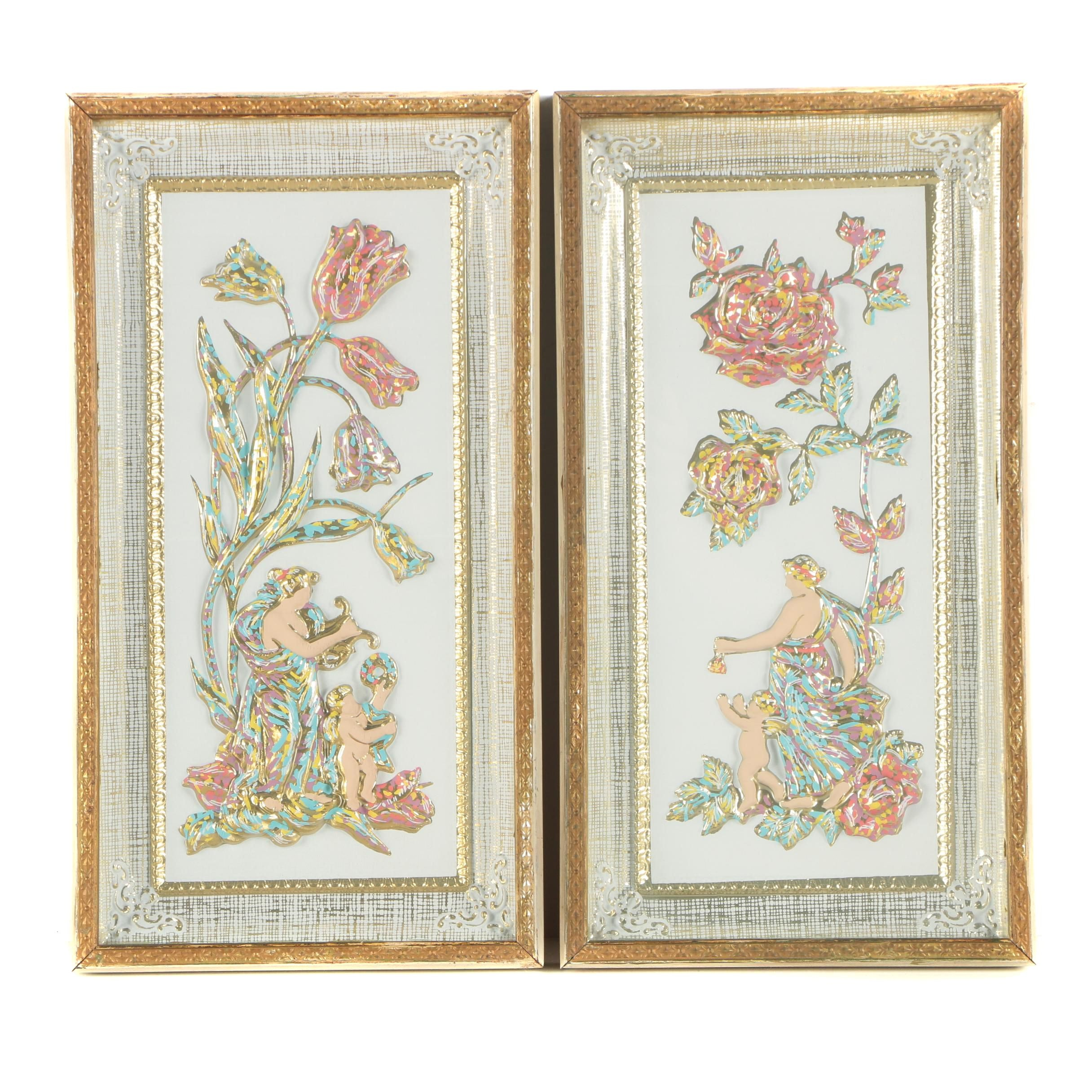 Vintage Decorative Wall Hangings in Relief