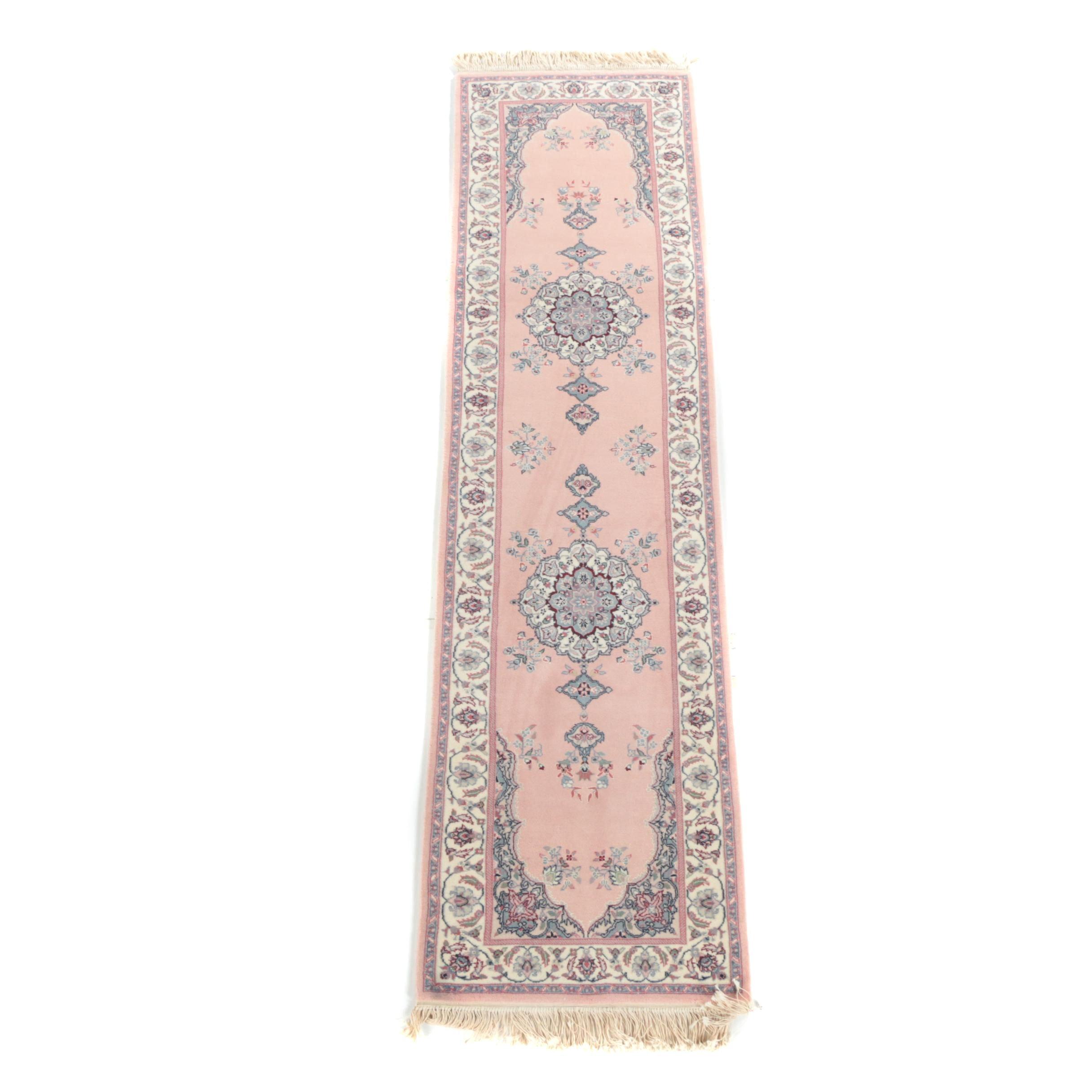 Hand-Knotted Sino-Persian Wool Carpet Runner