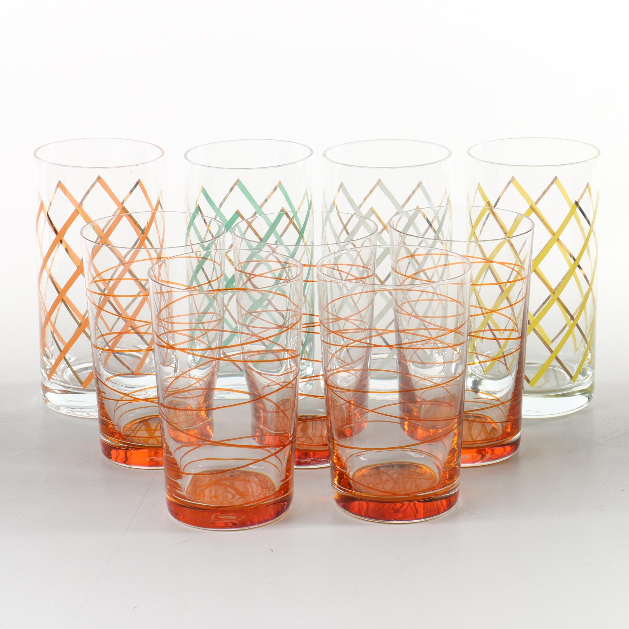 Drinking Glasses with Colorful Patterns