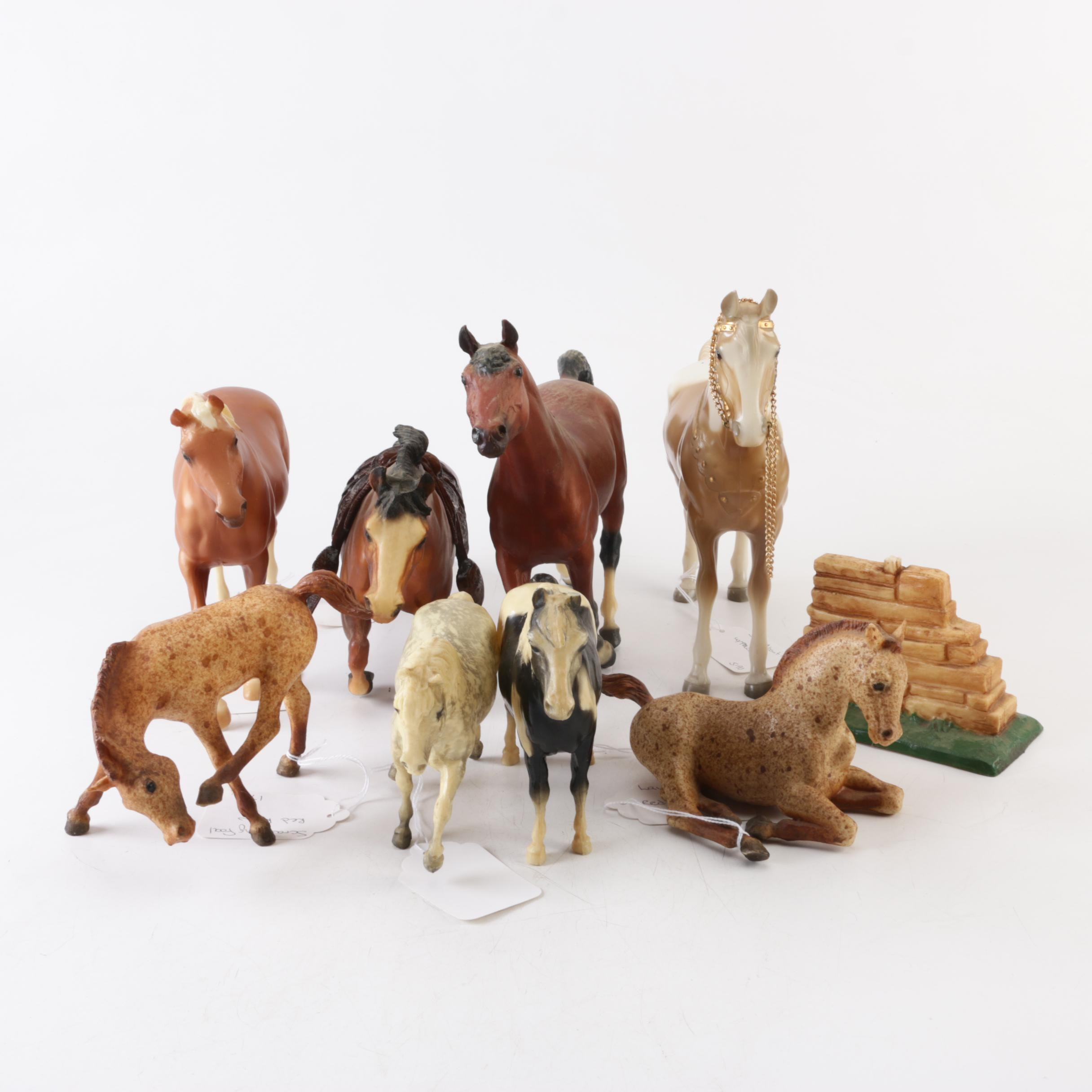 Horse Figurines Including Morgan Bay, Jumper, and Red Roan