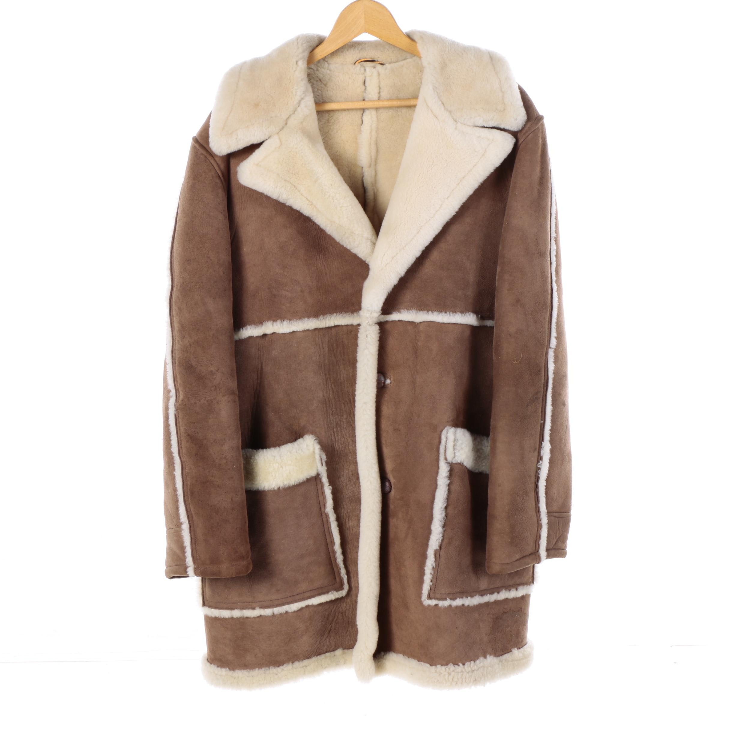 Men's Greier of Amsterdam Suede and Shearling Coat