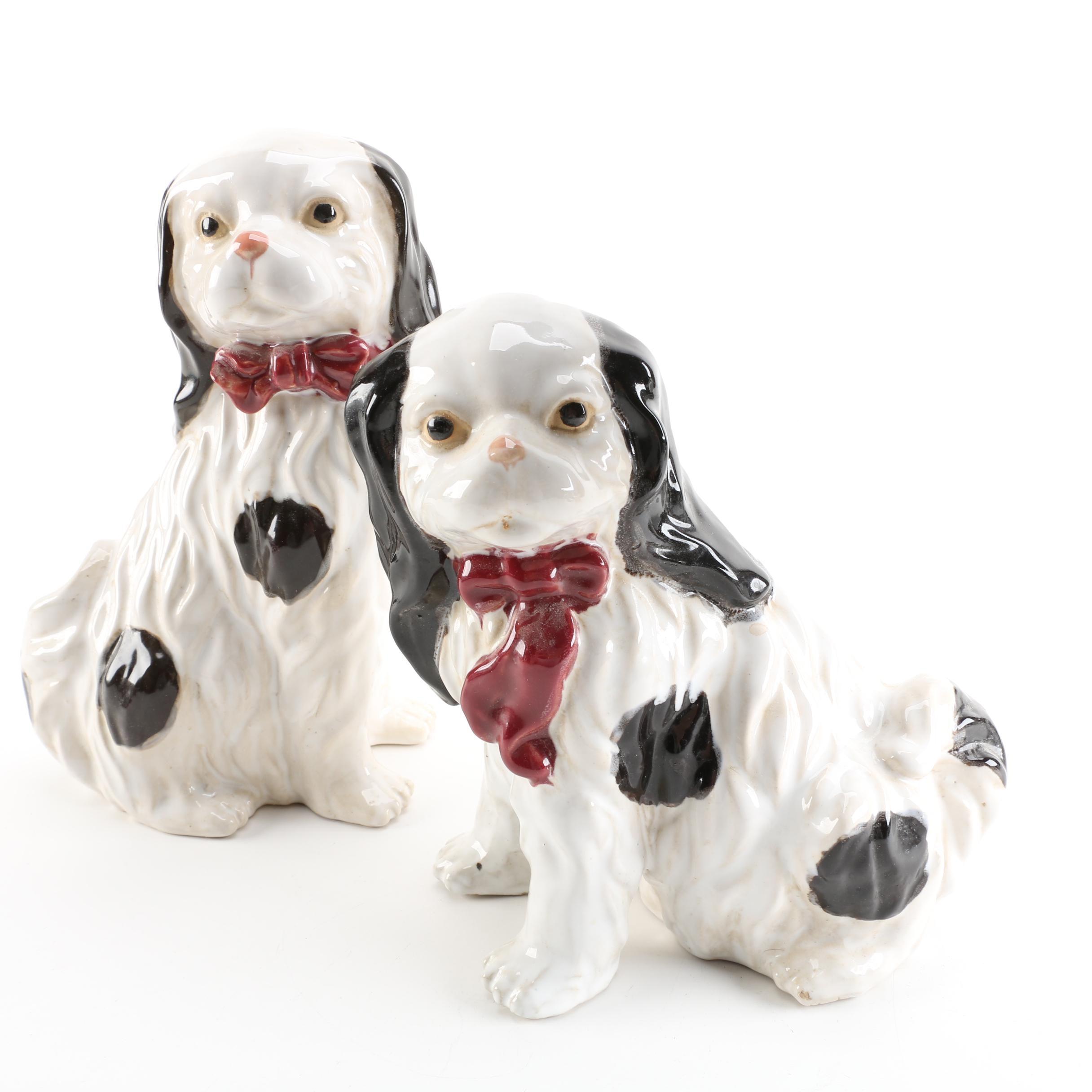 Pair of Ceramic Spaniel Figurines