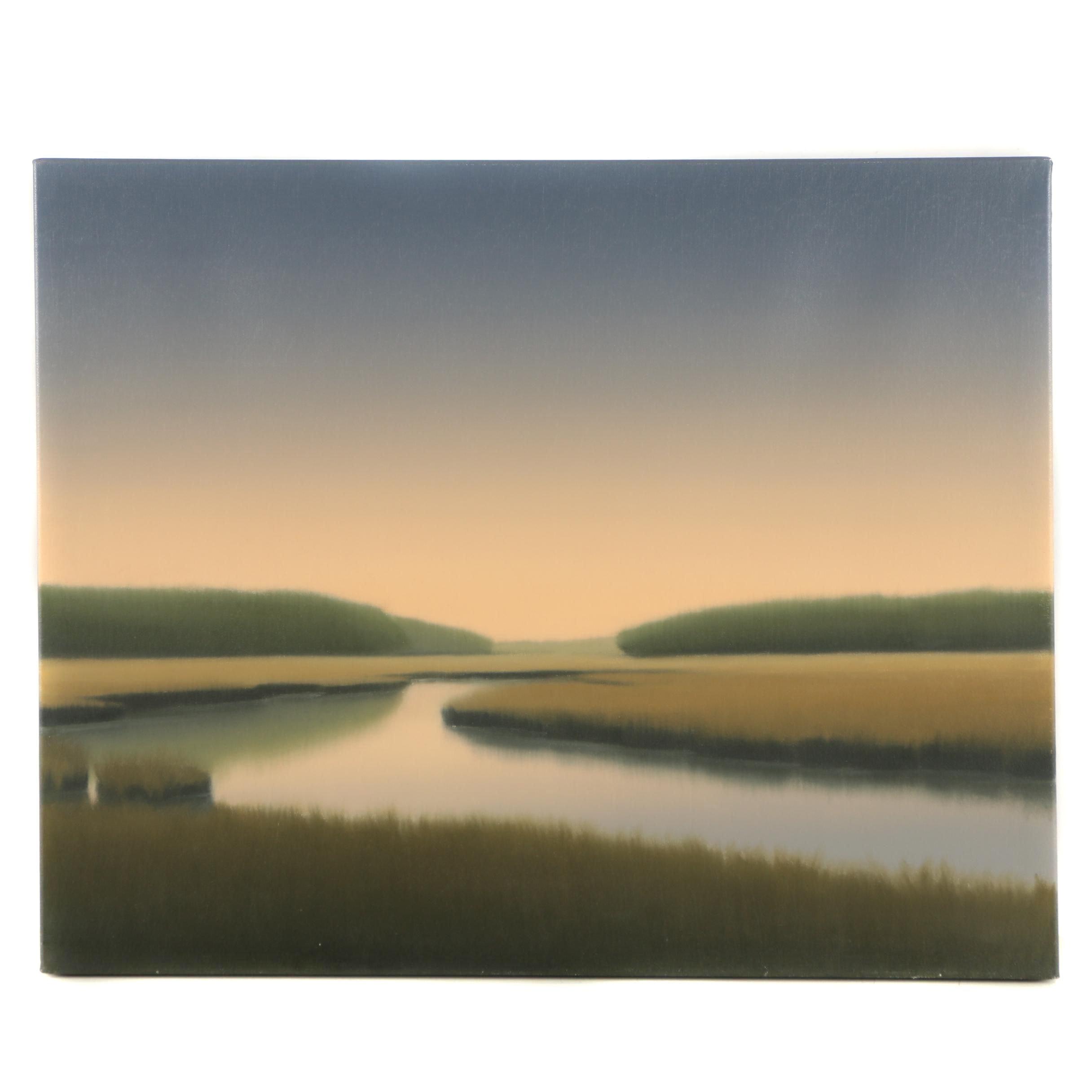 "Jonathon MacAdam Oil Painting ""Lavender Dawn"""