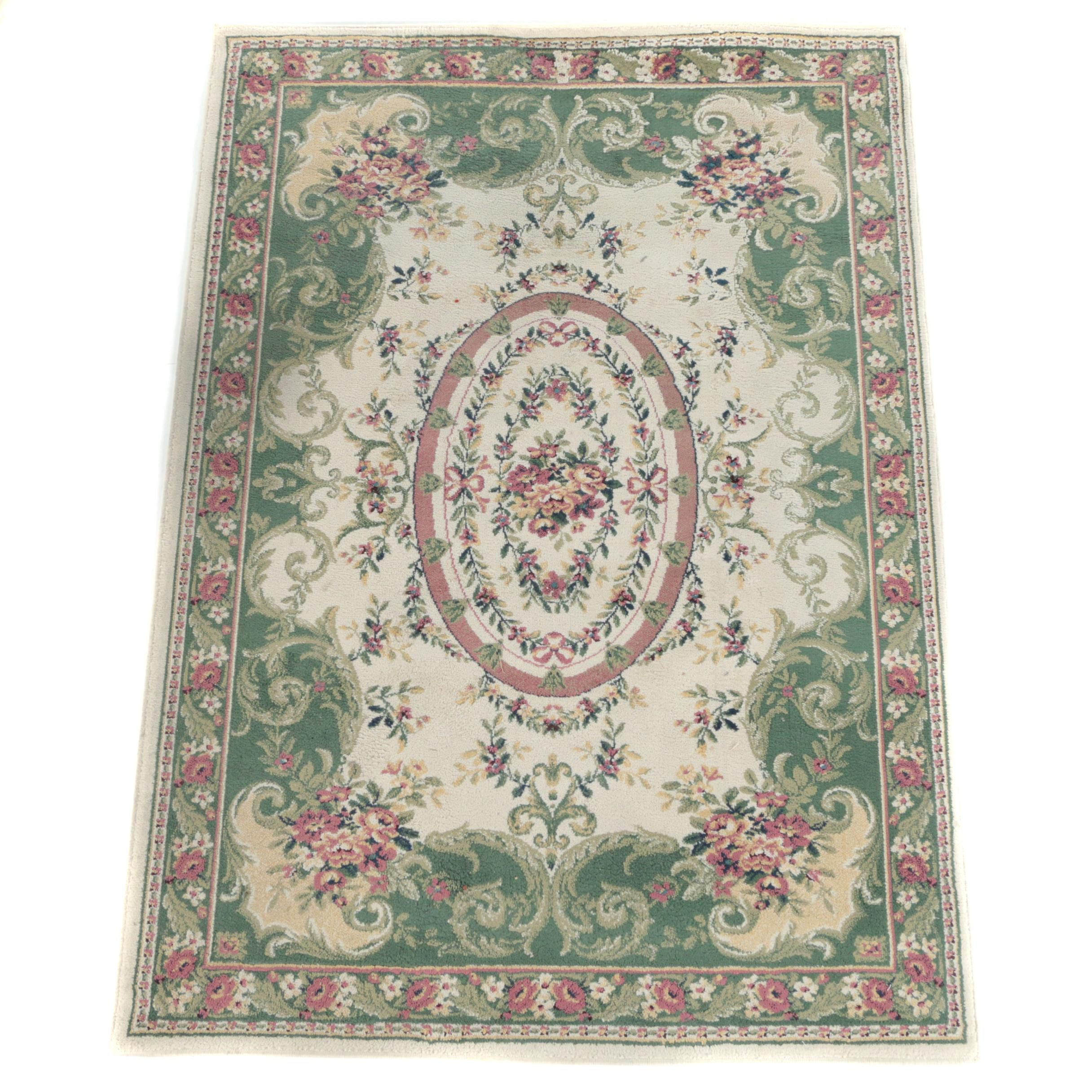 Machine Made Aubusson Style Area Rug by Belvidere