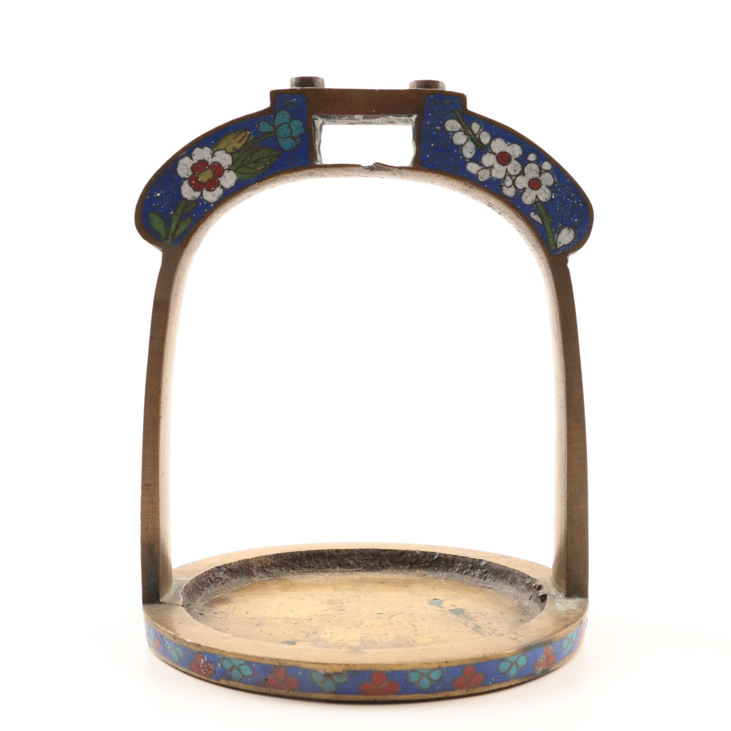 Antique Chinese Cloisonné Stirrup