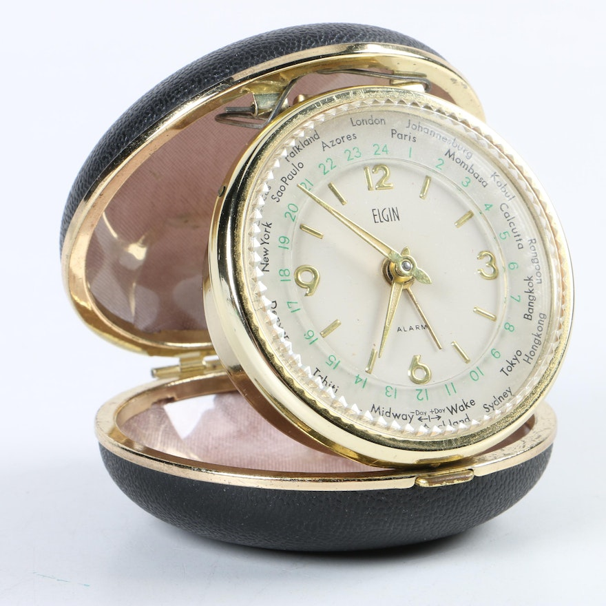 Elgin World Travel Alarm Clock