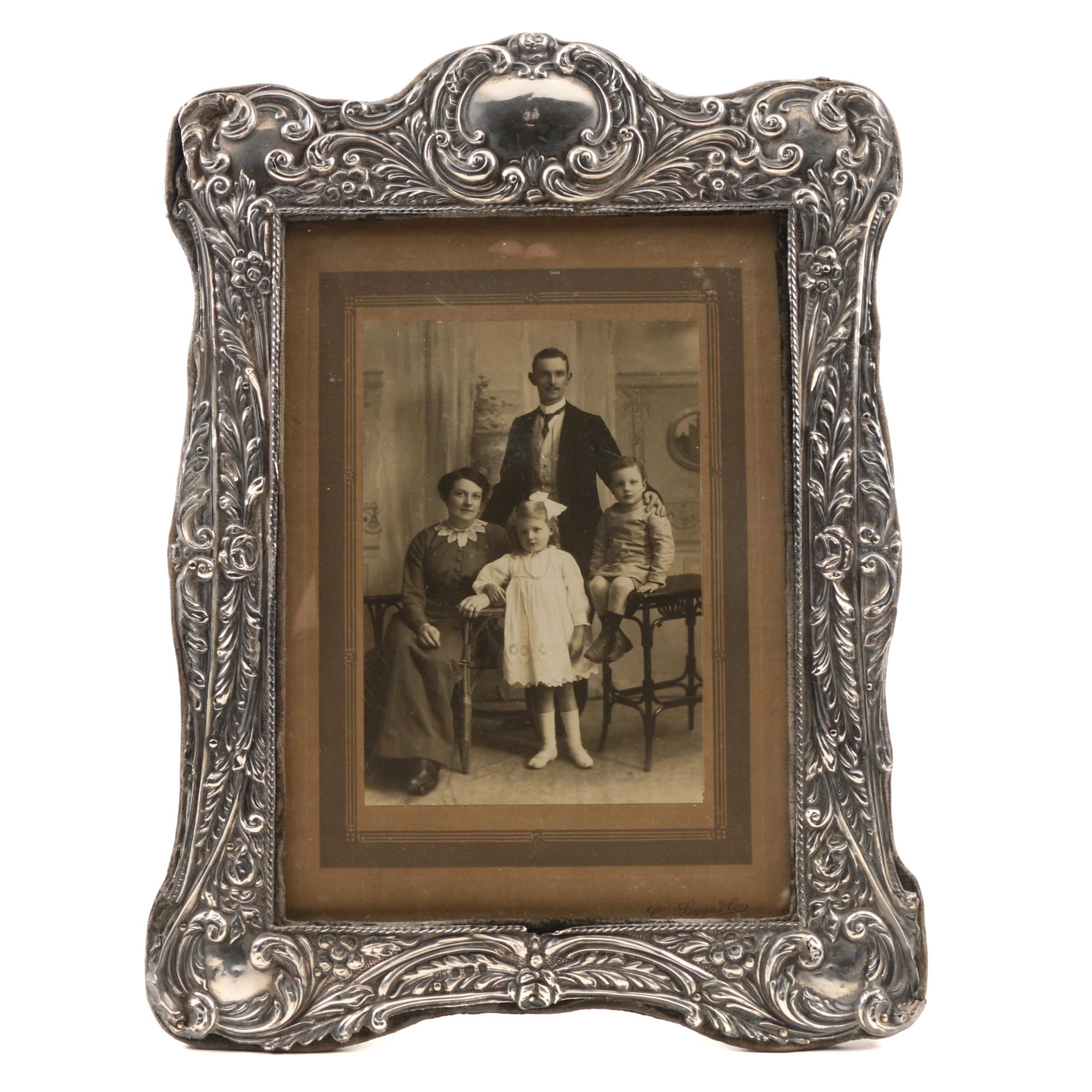 Antique Edwardian Sterling Silver Picture Frame