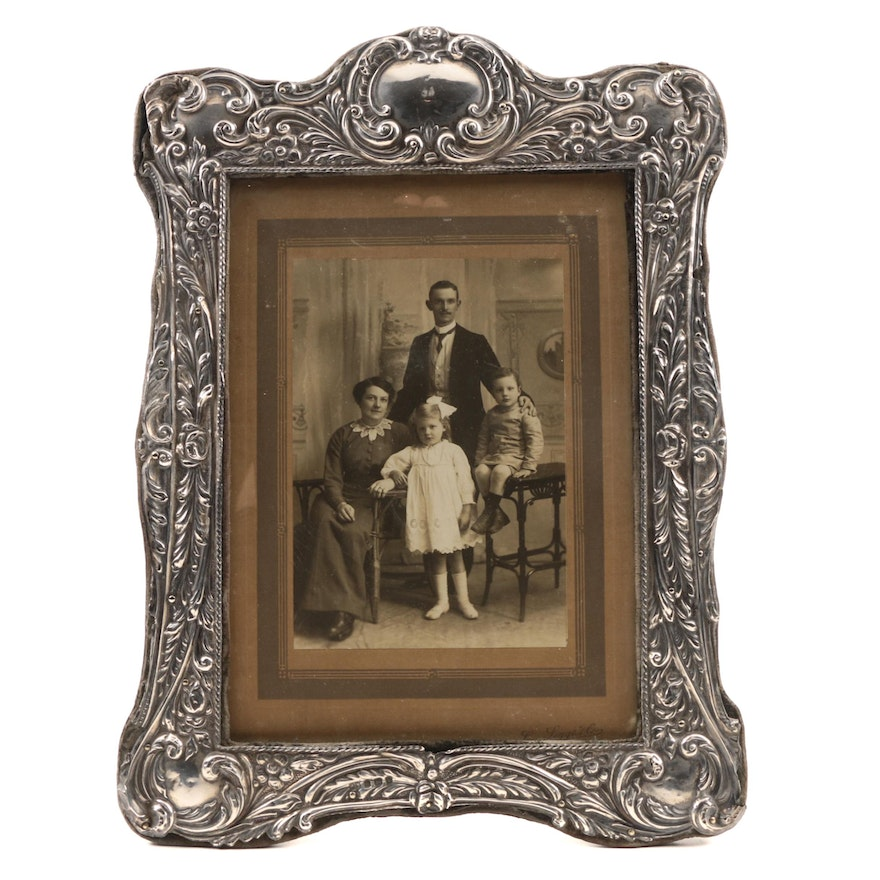 Antique Edwardian Sterling Silver Picture Frame Ebth