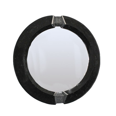 Inlaid Stone Framed Wall Mirror