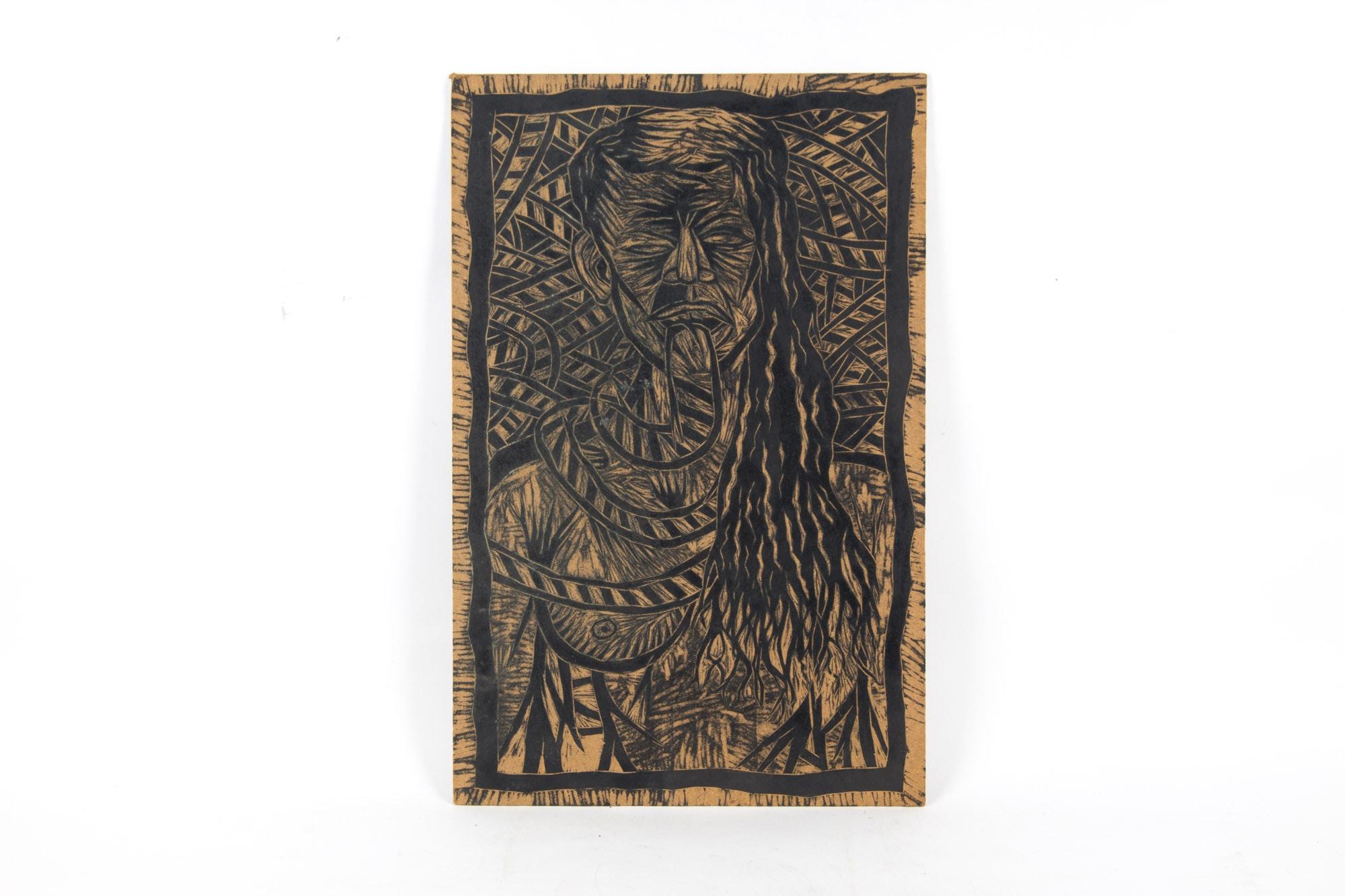 Thom Shaw Original Printing Block