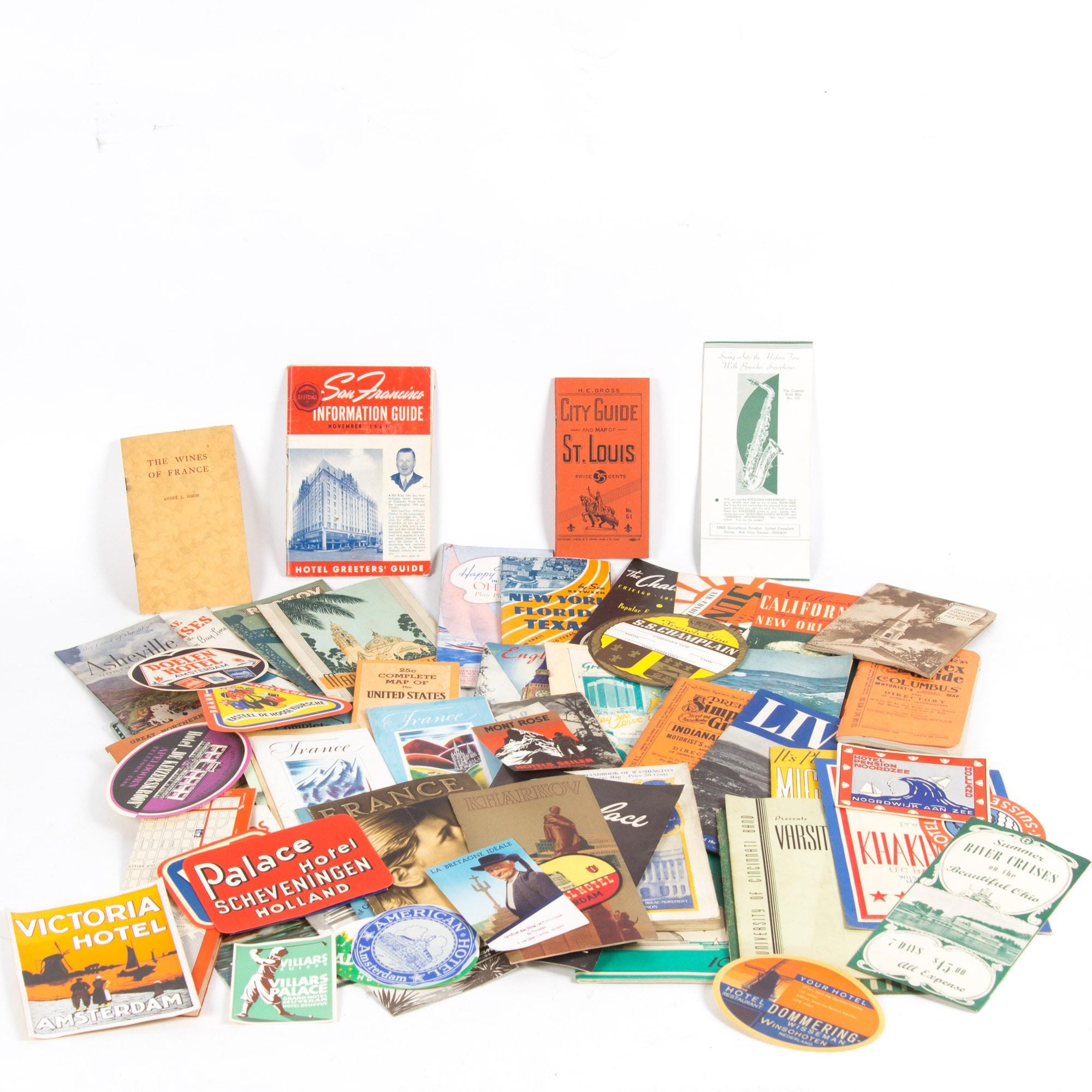 Vintage Travel Ephemera