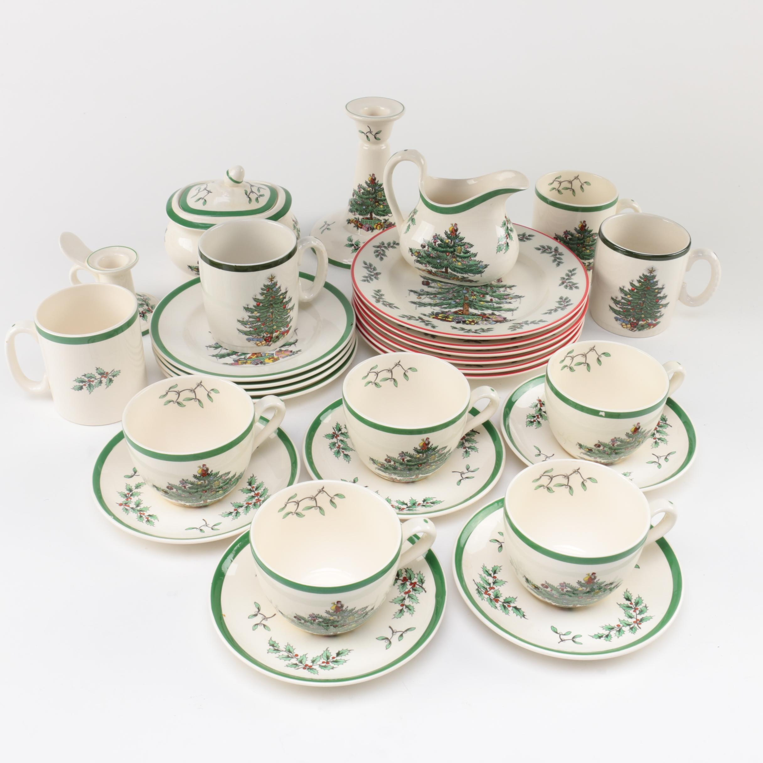 Spode \ Christmas Tree\  Dinnerware and Table Accessories ... & Spode \