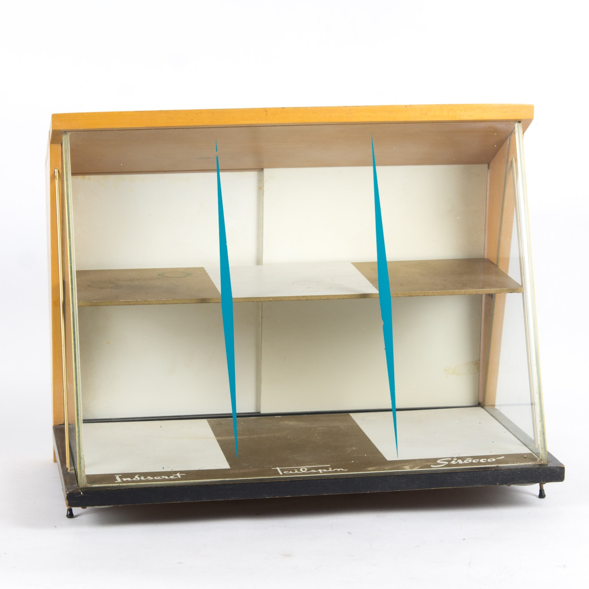 Vintage Wooden and Glass Tabletop Display Cabinet