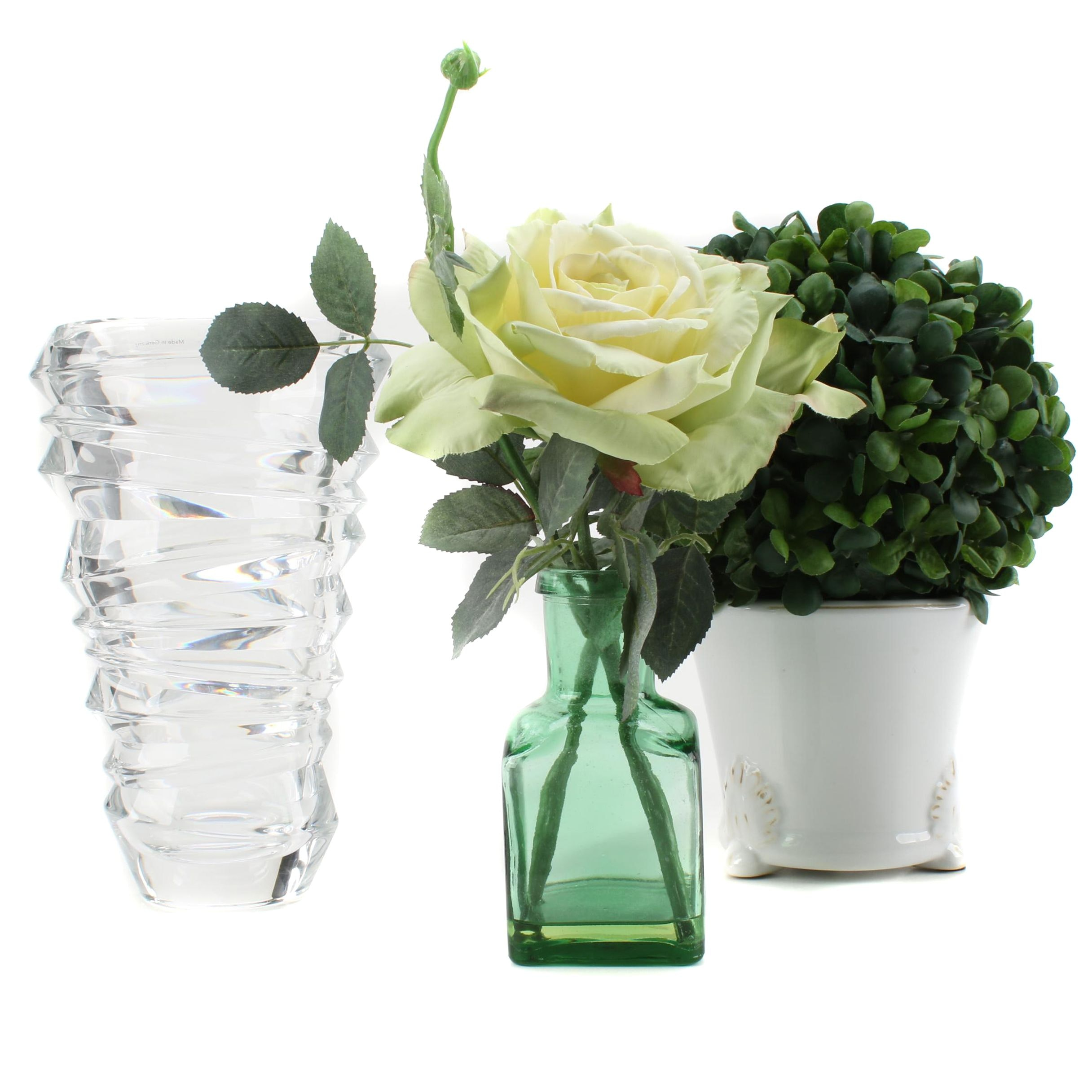 "Ceramic, Glass and Crystal Vases Featuring Nachtmann ""Slice"" Vase"
