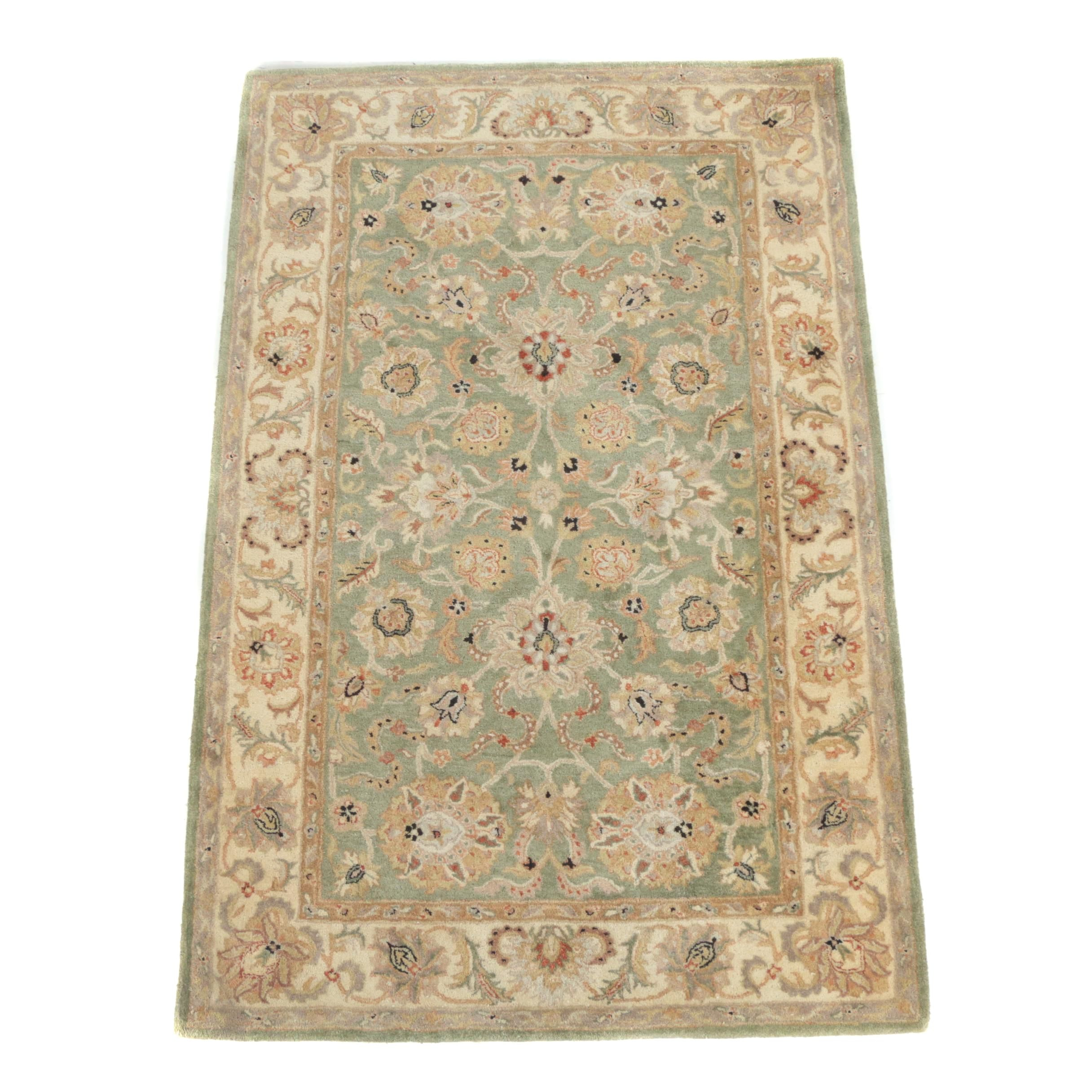 Hand-Tufted Indo-Persian Agra Style Wool Area Rug for Capel