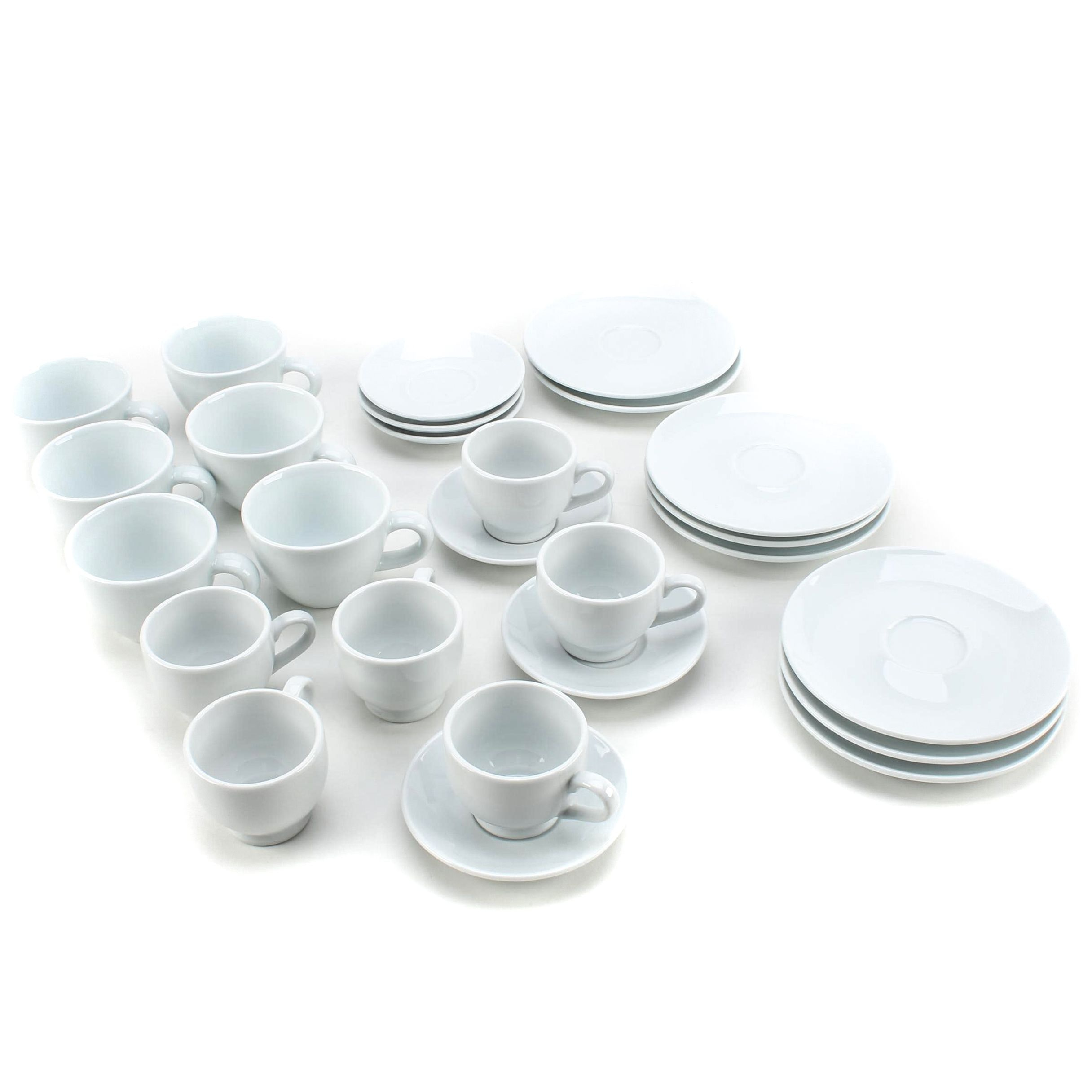 Sur La Table White Coffee Mugs, Espresso Cups and Saucers