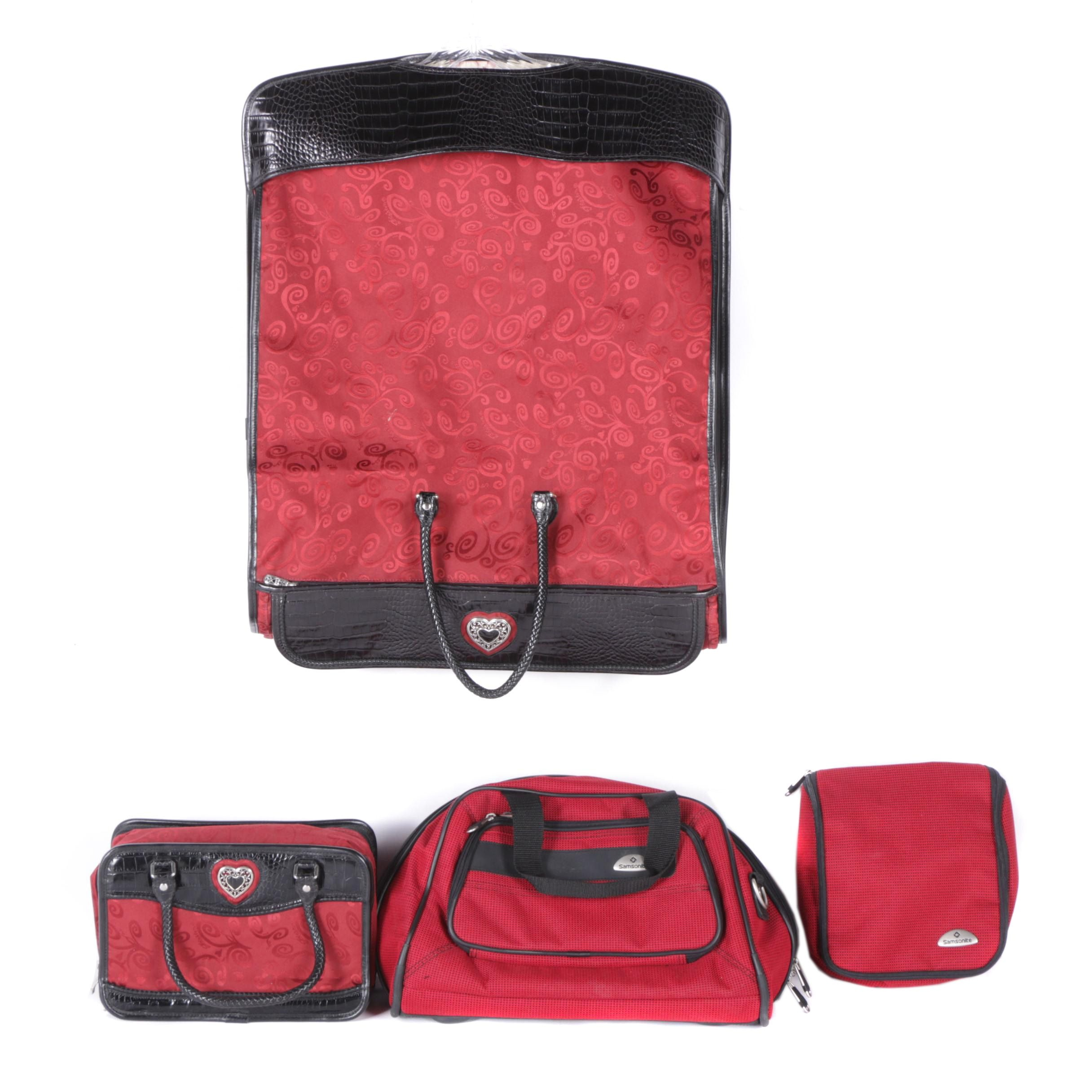 Red and Black Luggage by Samsonite and Brighton