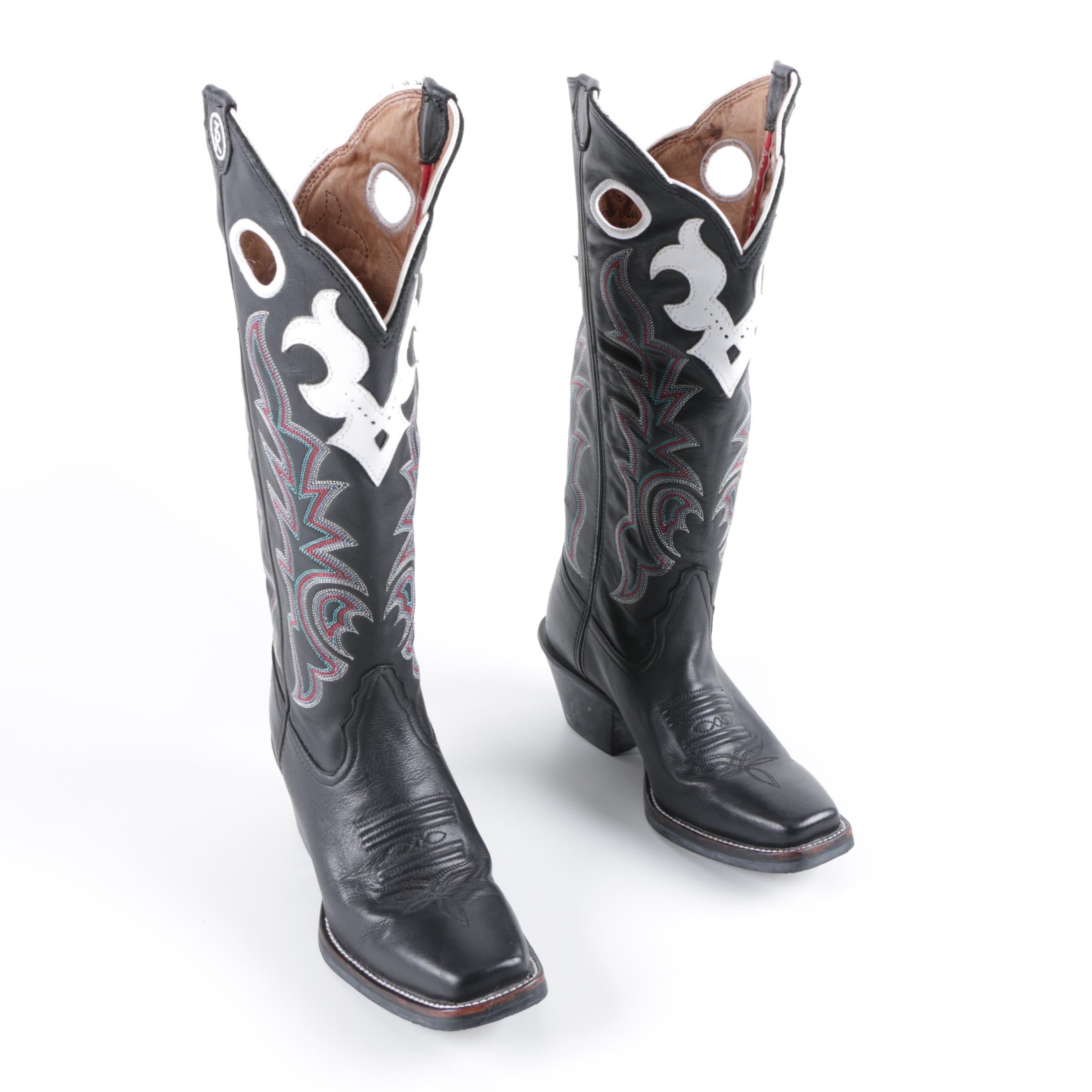 Women's Tony Lama of El Paso, Texas Embroidered Leather Western Boots