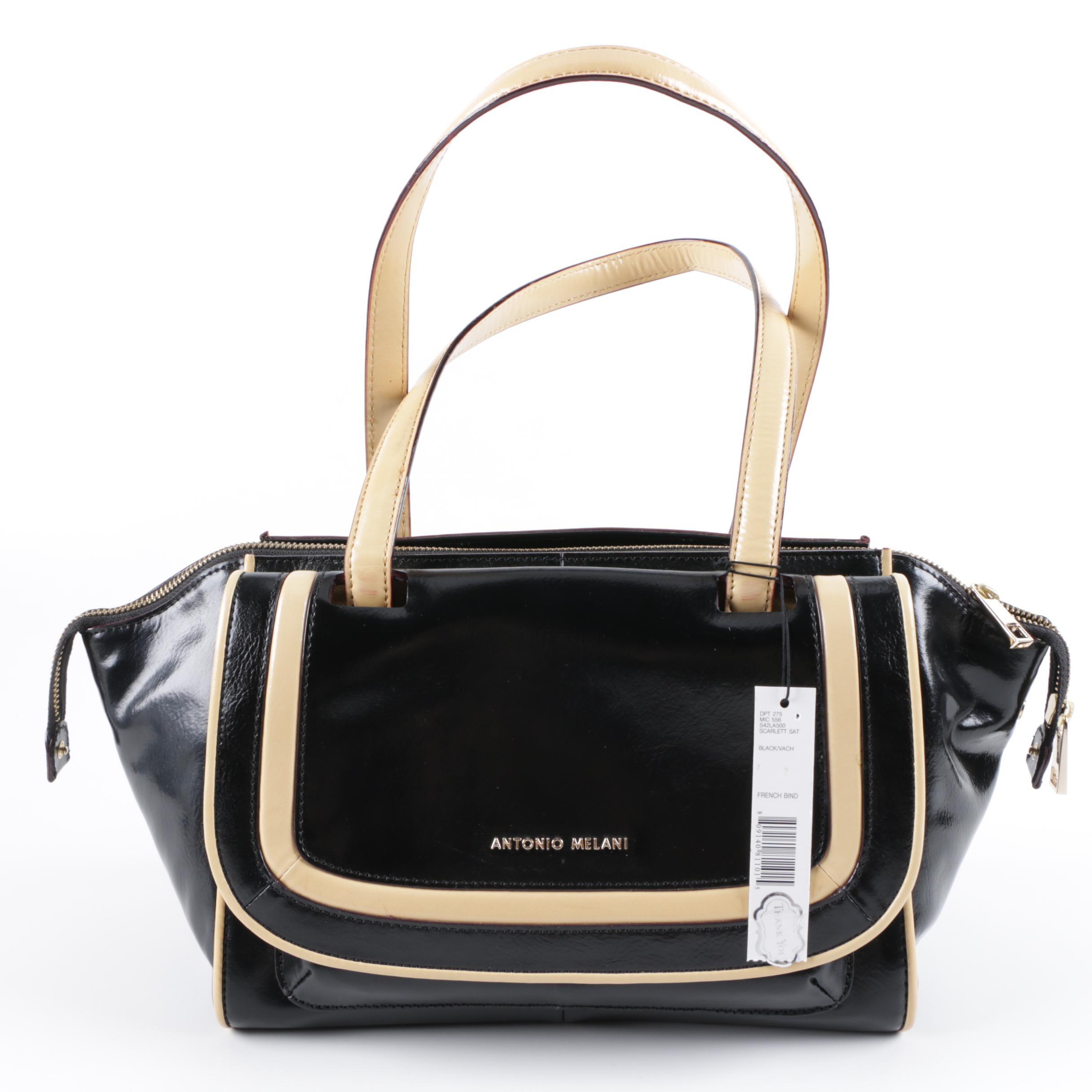 Antonio Melani Black Leather Handbag