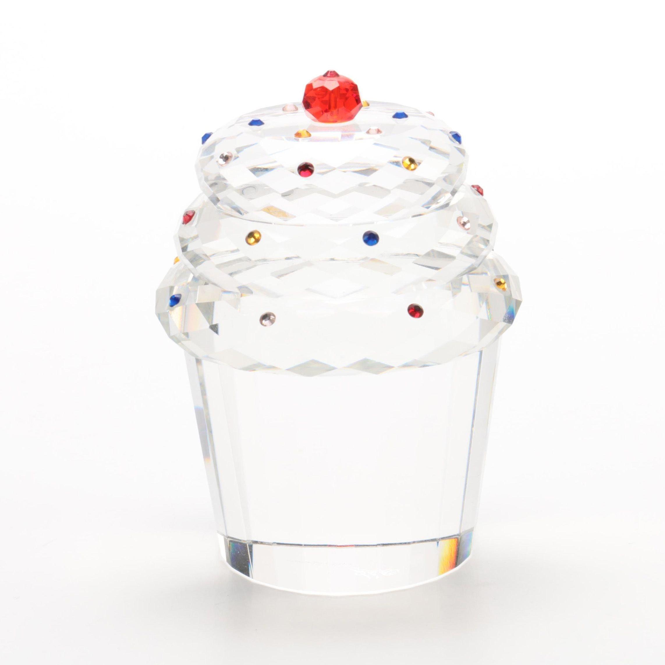 Oleg Cassini Crystal Cupcake Figurine