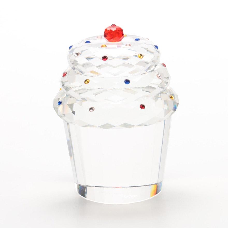 Oleg Cassini Crystal Cupcake Figurine Ebth