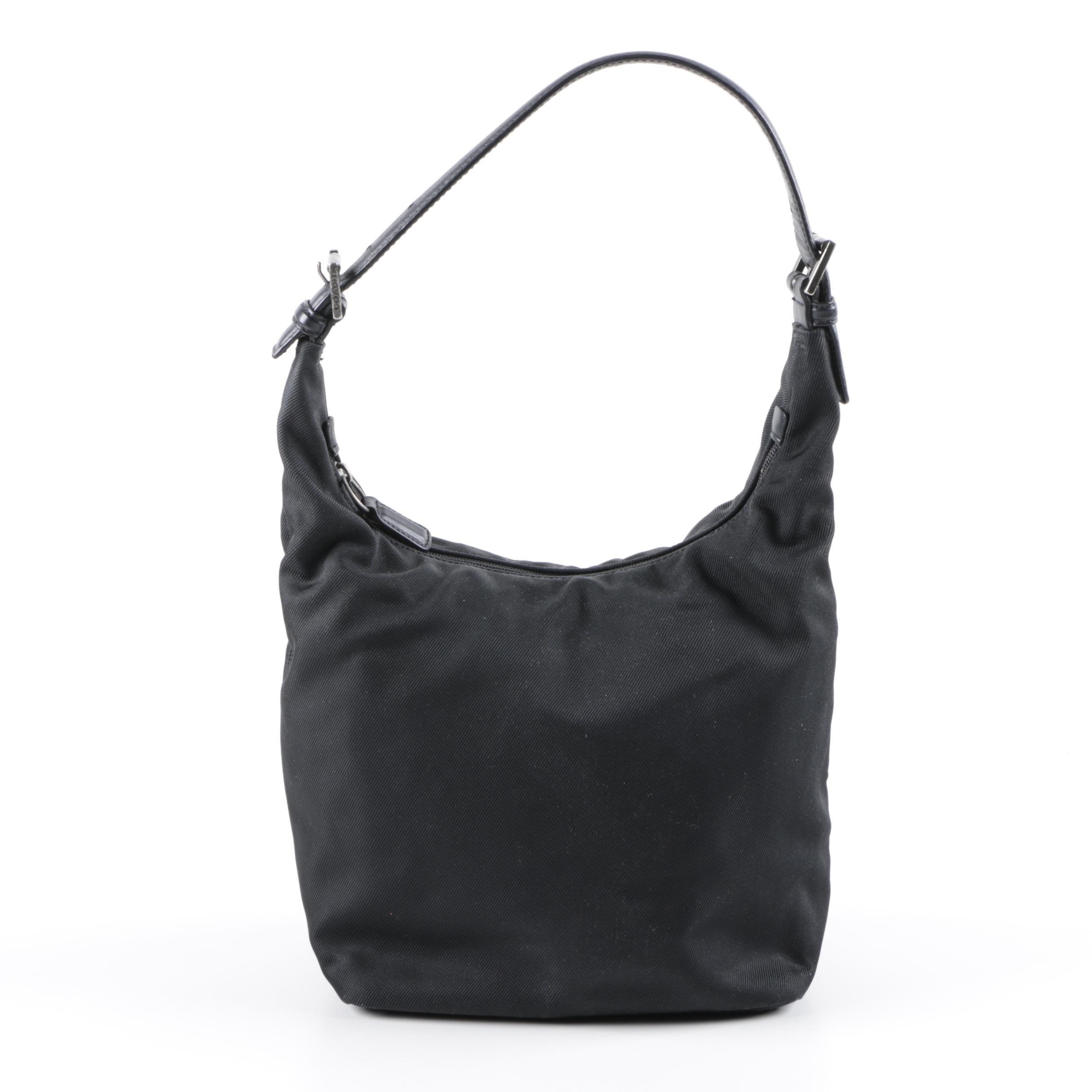 Coach Mercer Black Twill Hobo Bag