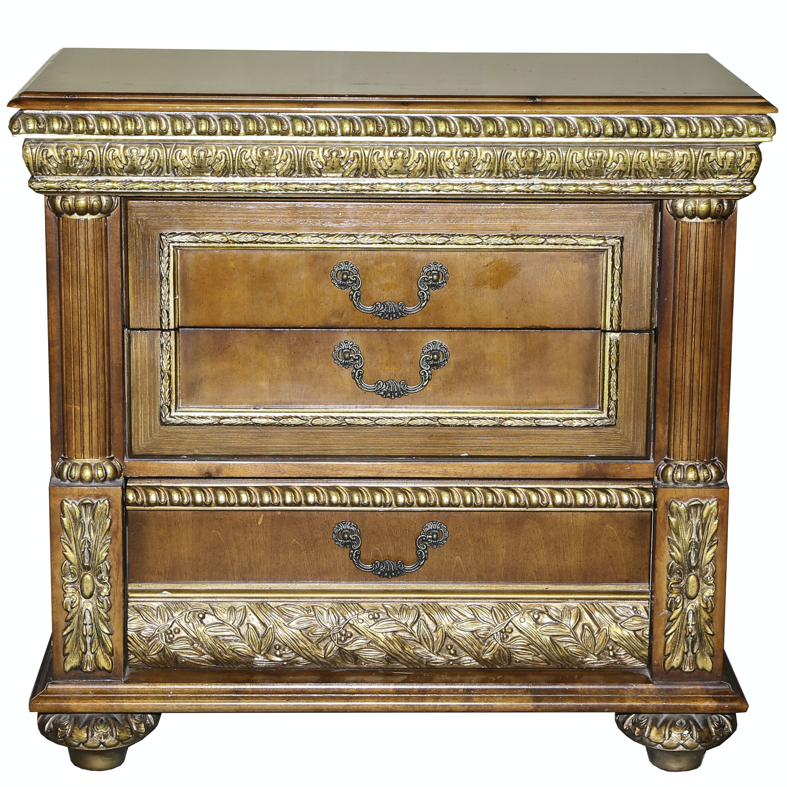 Italianate Bedside Chest of Drawers